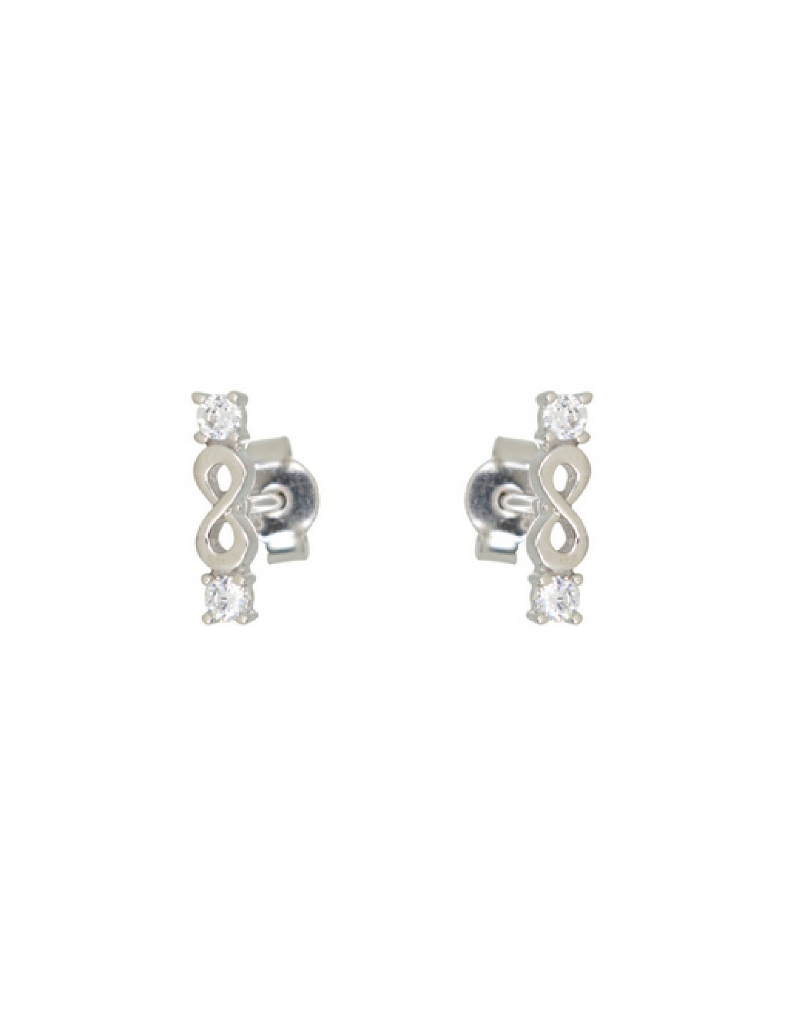 Boucles d'oreilles Infini Stud Or blanc 10K