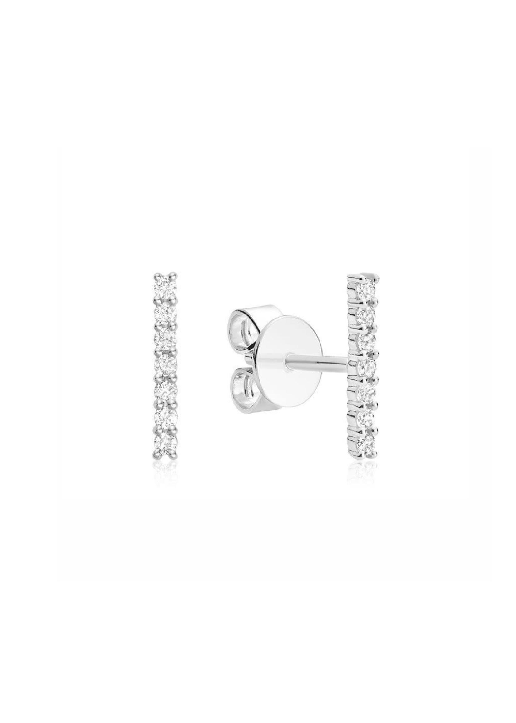 Boucles d'oreilles Barre Stud Or 10K avec diamants