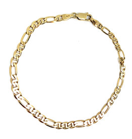 Bracelet figaro-marine Or 10K