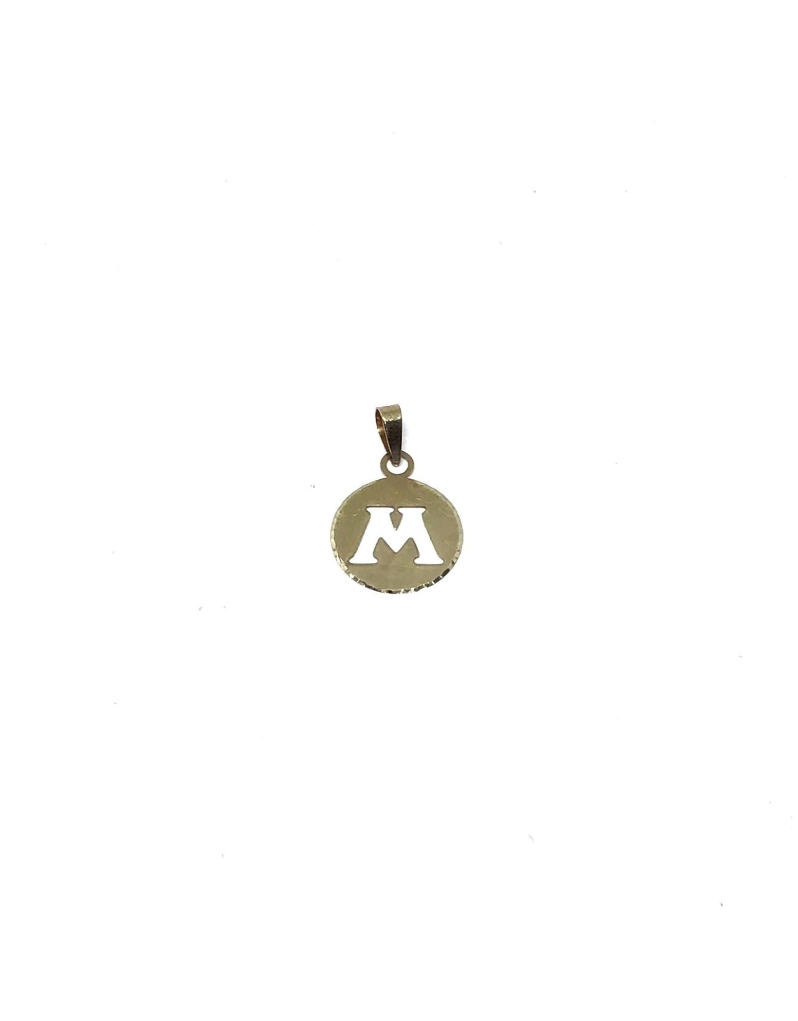 Breloque Médaillon Lettre M Or 10K