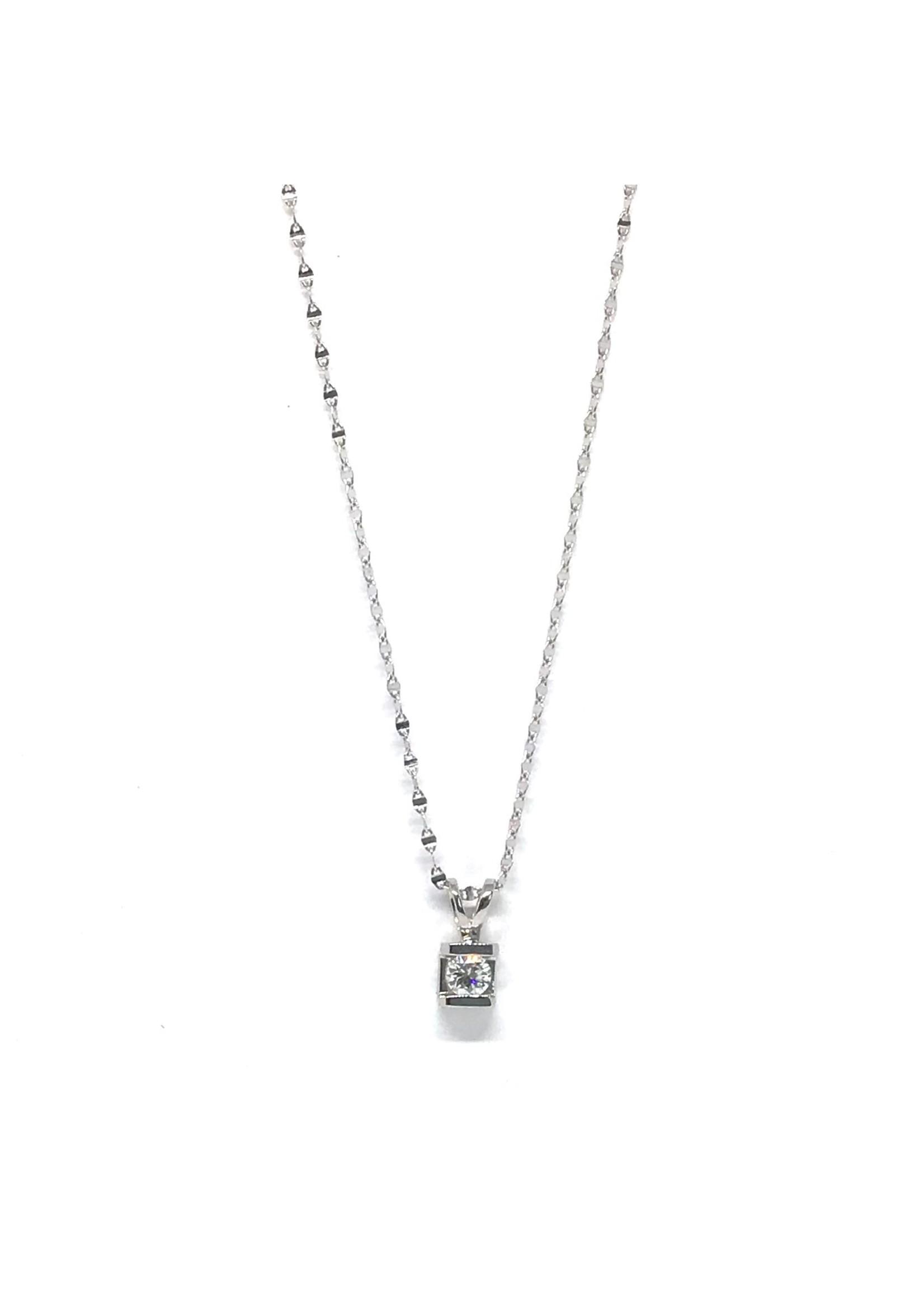 Breloque Lutrin Or blanc 10K avec Diamants