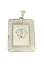 Breloque Plaque Versace Or blanc 10K