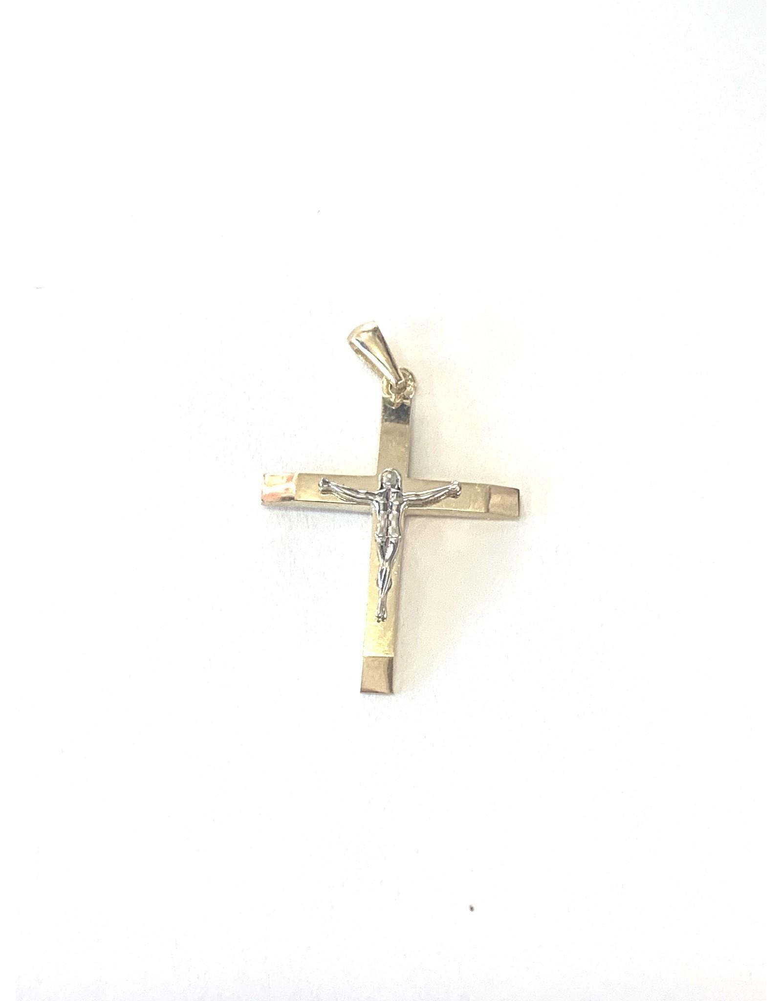Croix avec Jésus Or 10K 2 tons