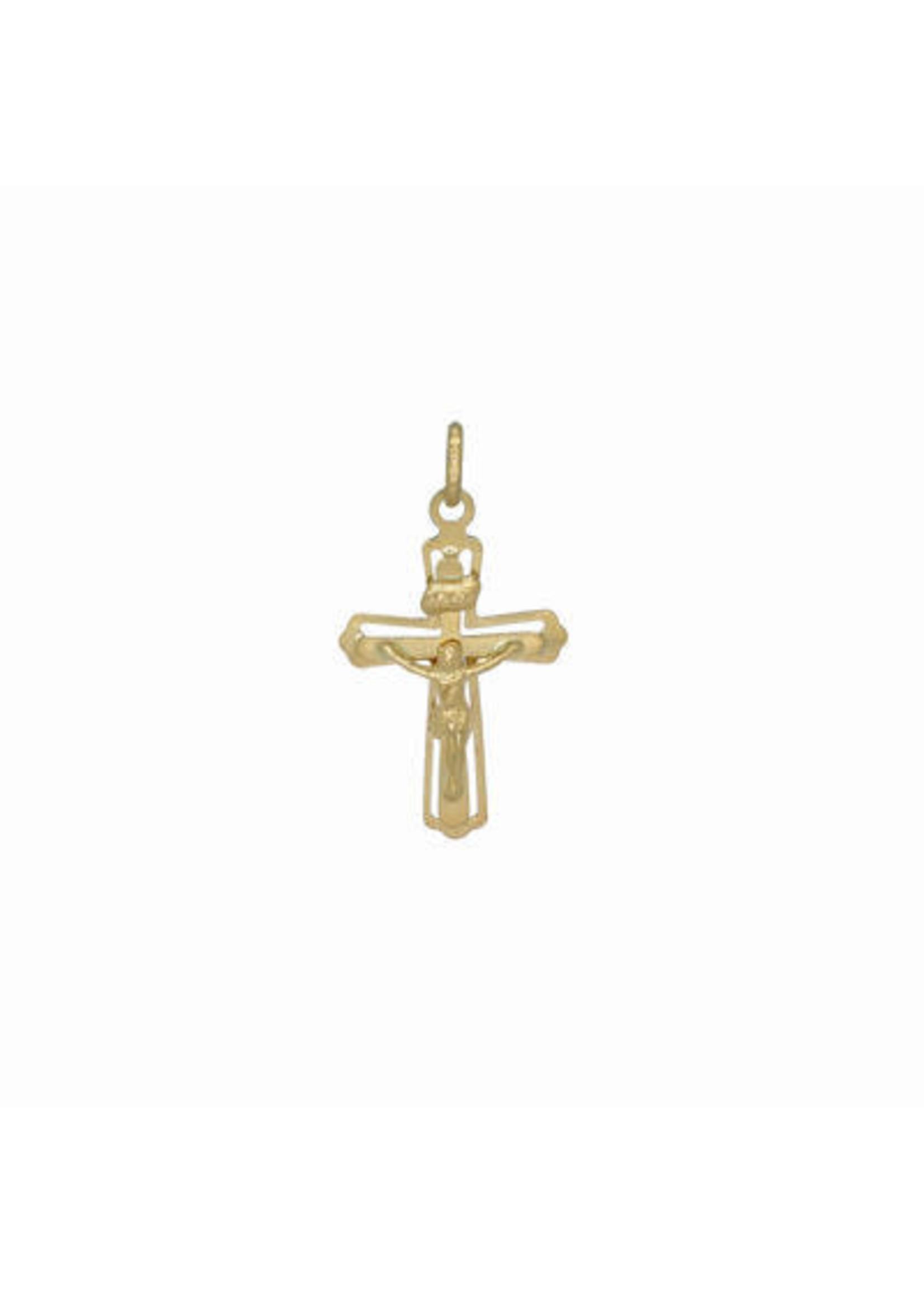 Croix double avec Jésus Or 10K