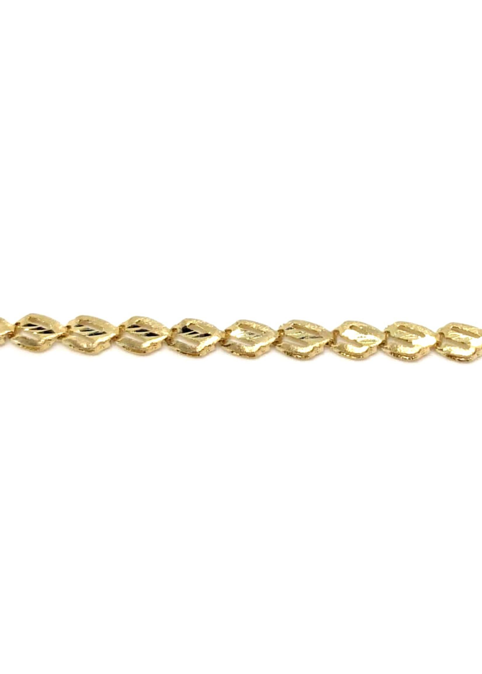 Bracelet Fantaisie Or 10K « diamond cut »