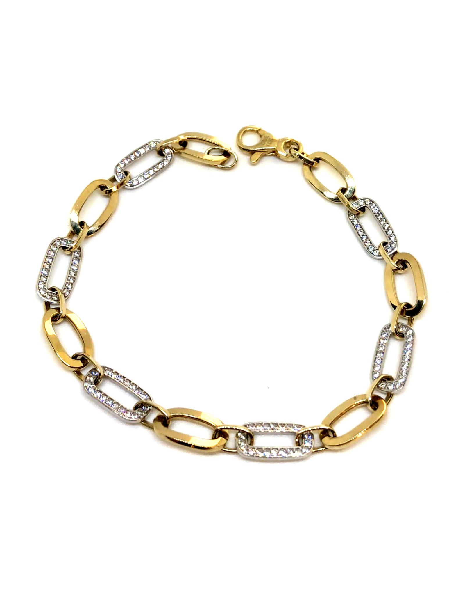 Bracelet Fantaisie Or 10K 2 tons