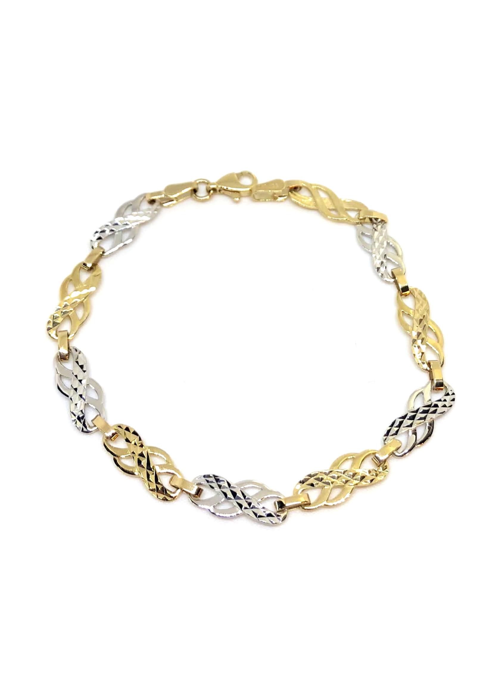 Bracelet Infini Doucle Or 10K 2 tons