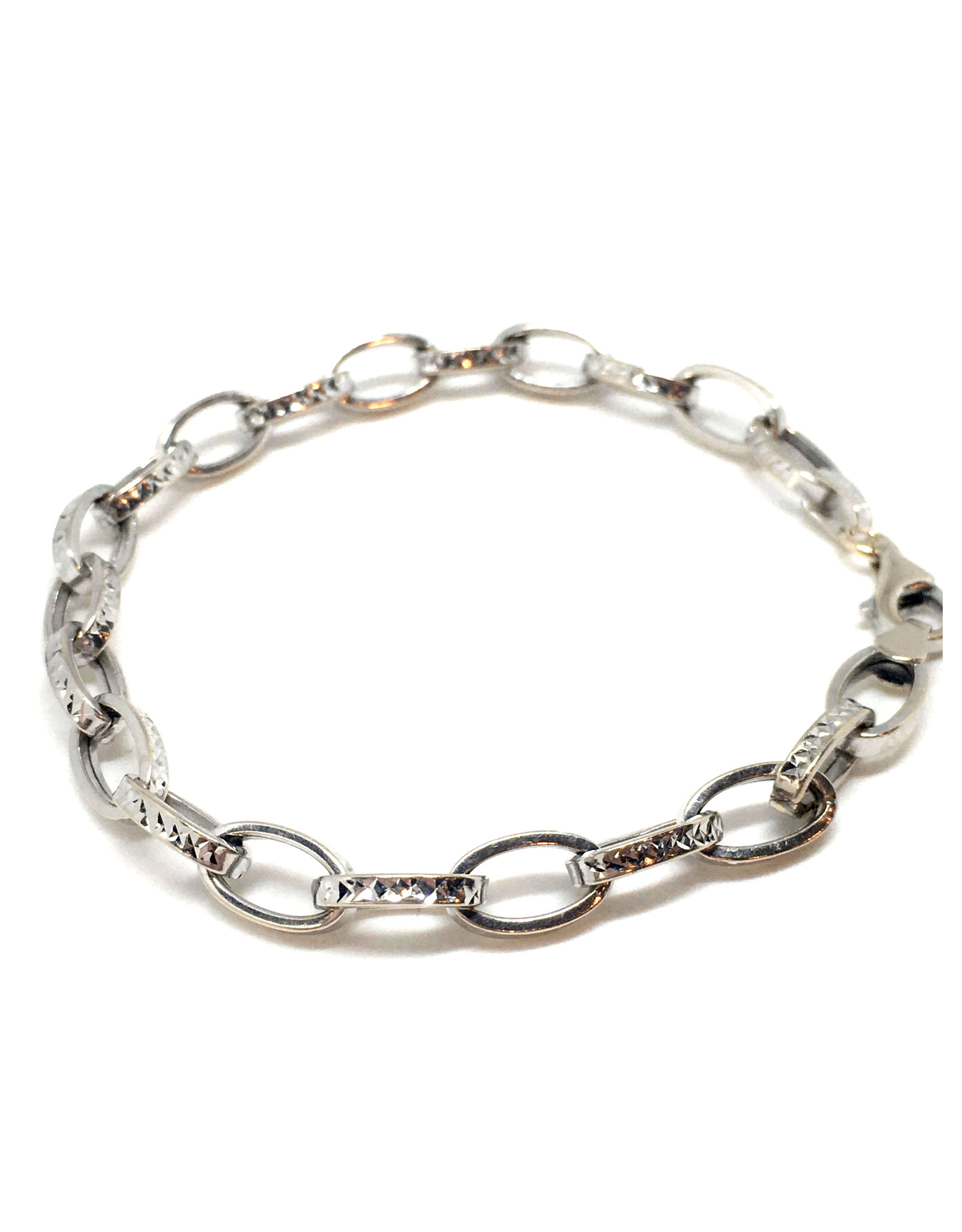 Bracelet Forçat Or blanc 10K