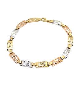 Bracelet Versace Or 10K 3 tons