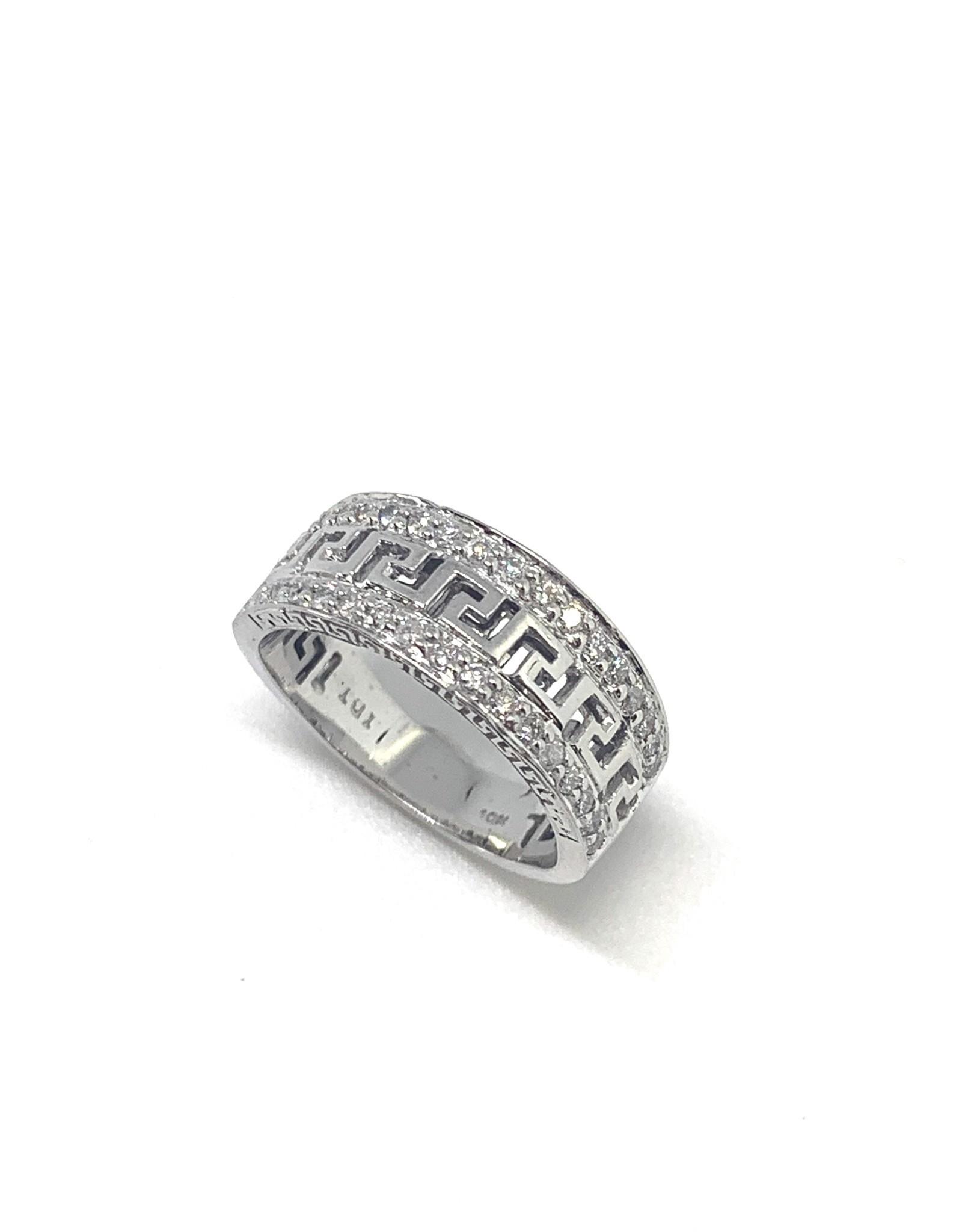 Jonc Semi-Éternité Versace Or blanc 10K avec Diamants