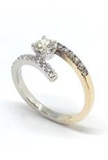 PARÉ Bague Semi-croisée Or 14K 2 tons avec Diamants