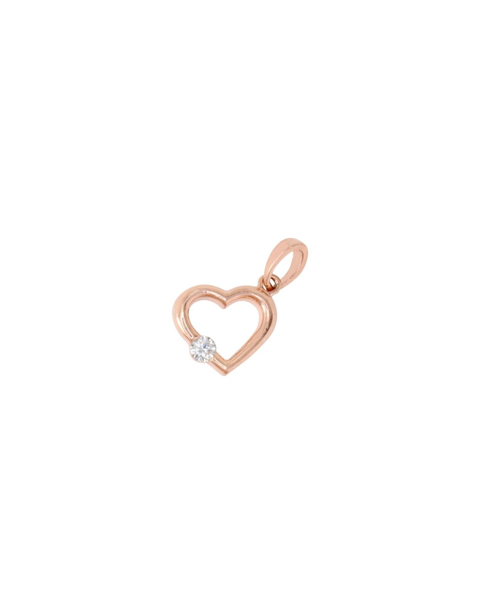 PARÉ Breloque coeur Or rose 10k