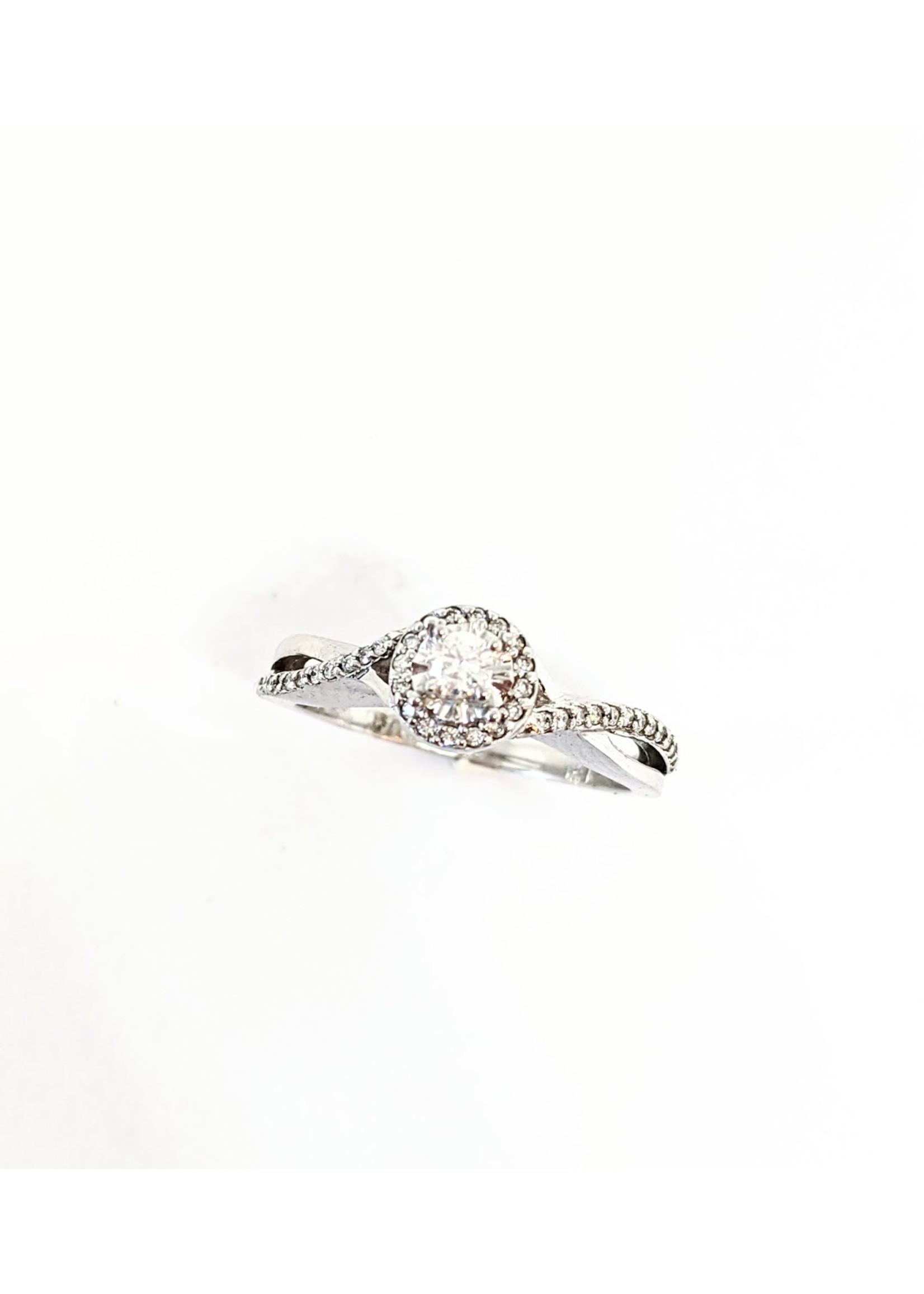 PARÉ Bague entre-croisés Or blanc 14K avec Diamants