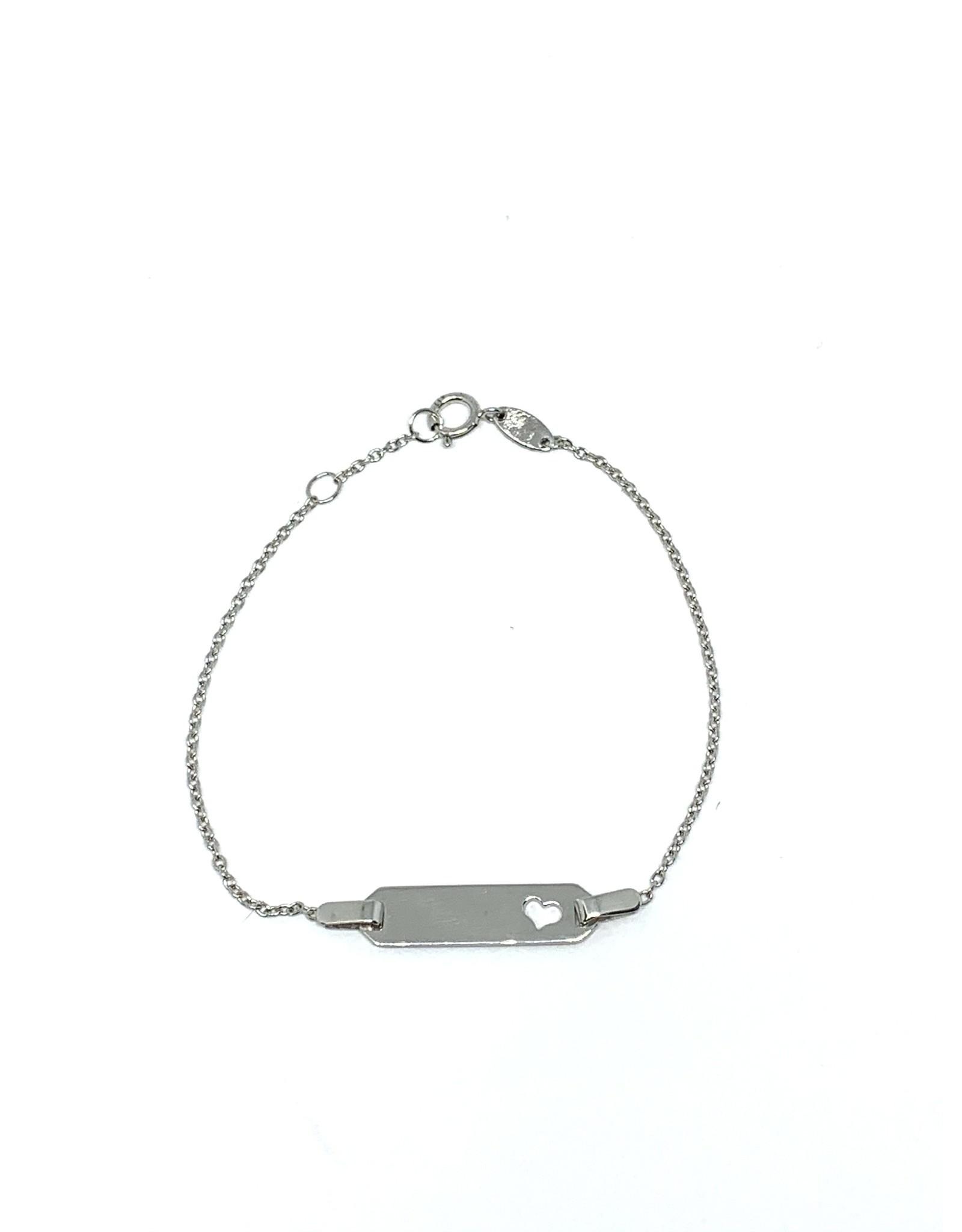 Bracelet pour Enfant en Or blanc 10K