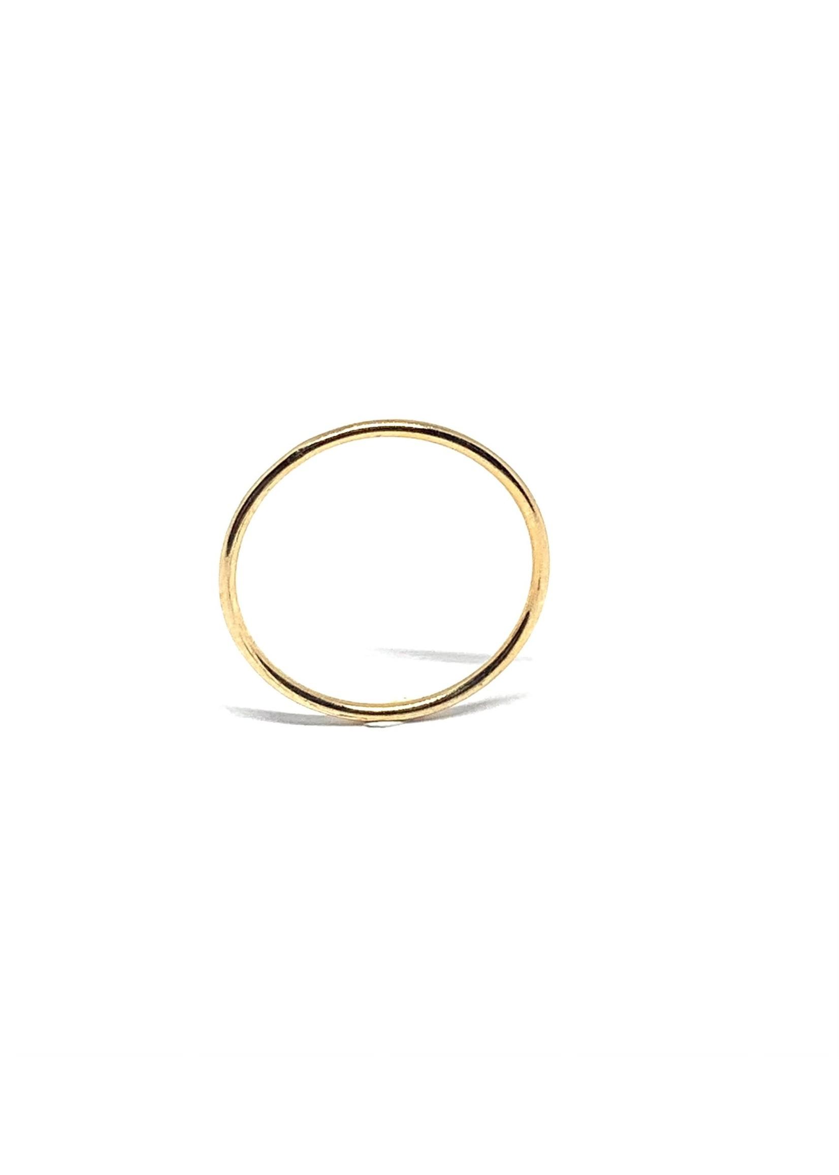 "LokÜs Jonc fin Or 10K ""Stackable ring"""