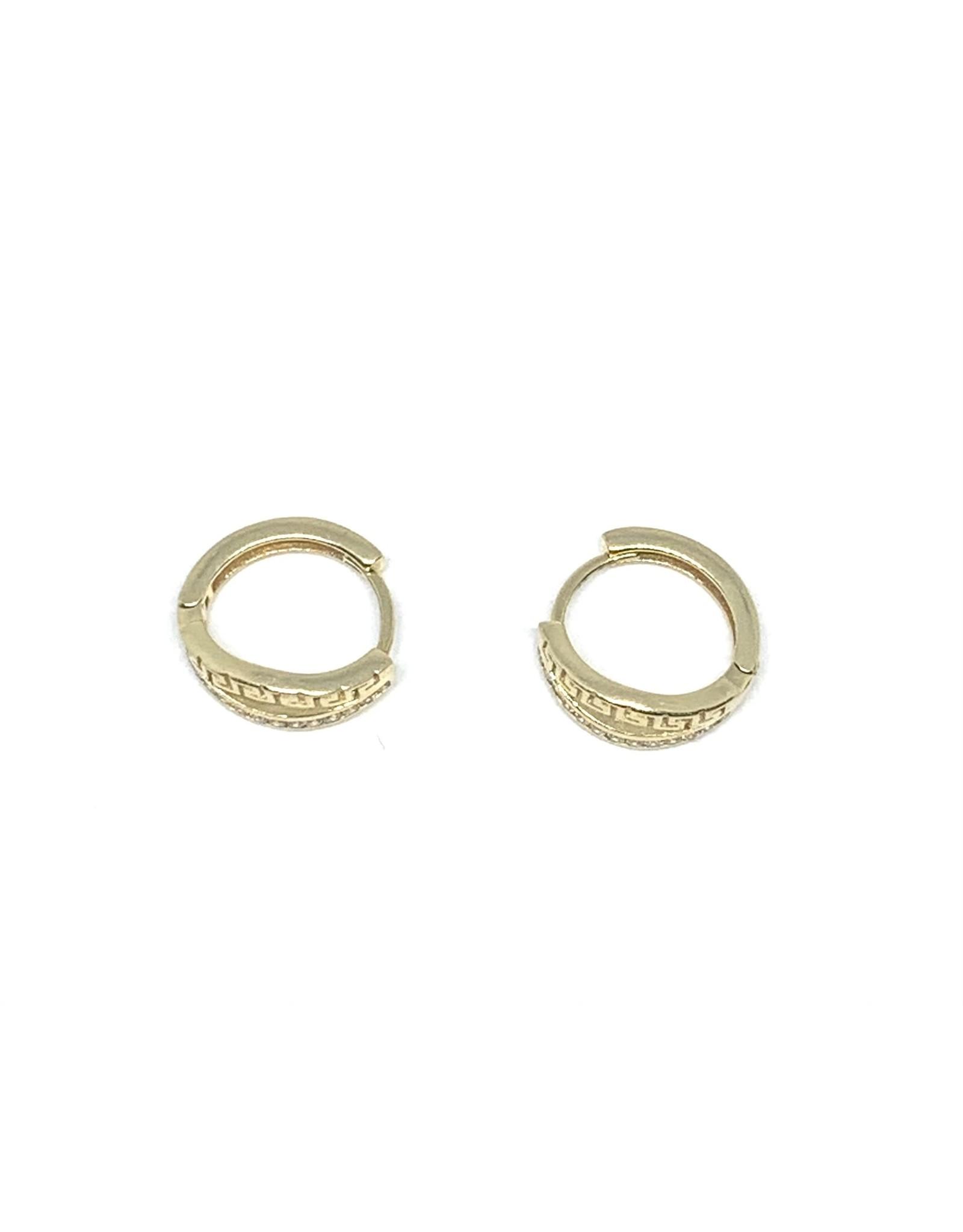 PARÉ Boucles d'oreilles Huggies Versace Or 10K avec Cubique zirconium
