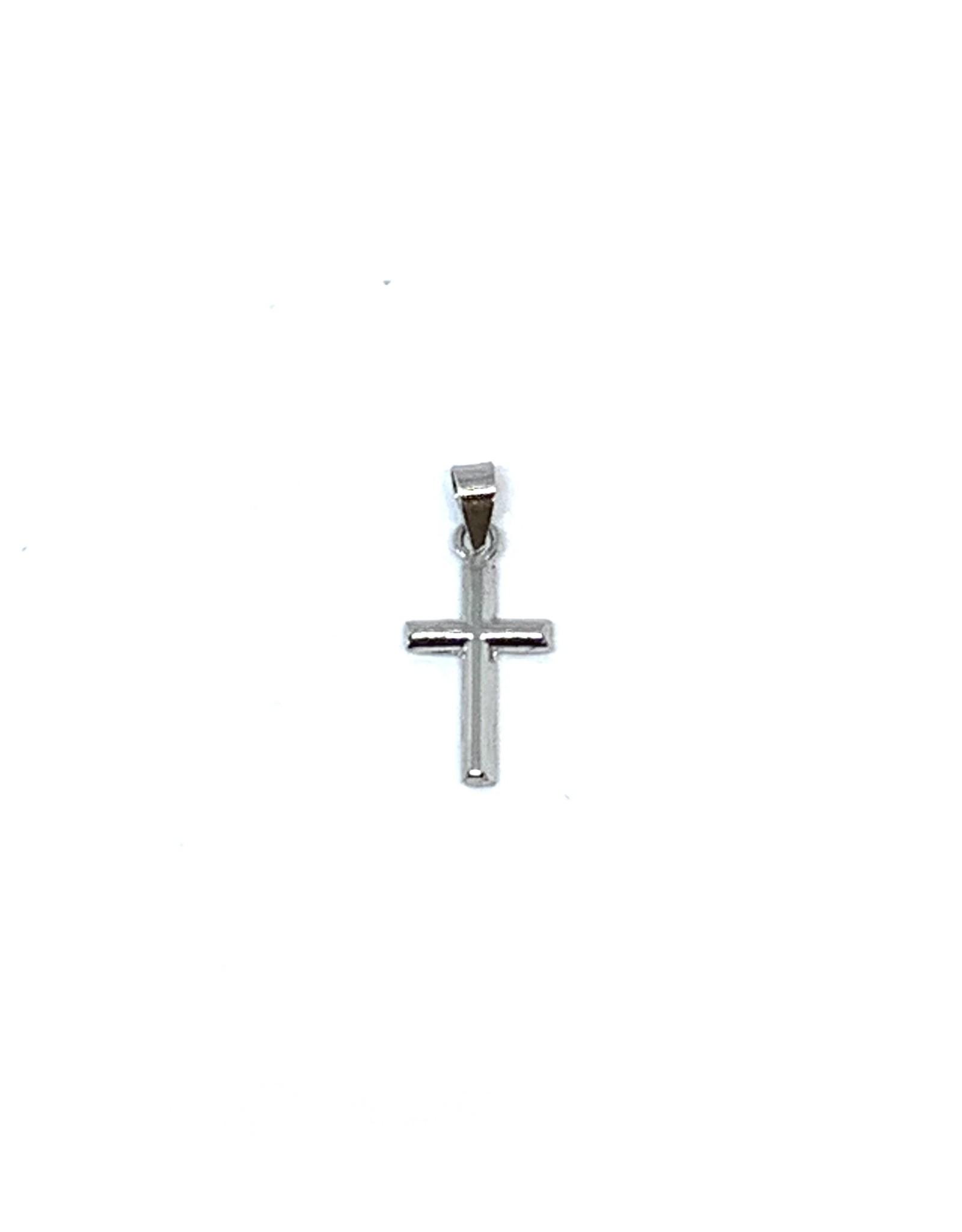 PARÉ Croix mini Or blanc 10K
