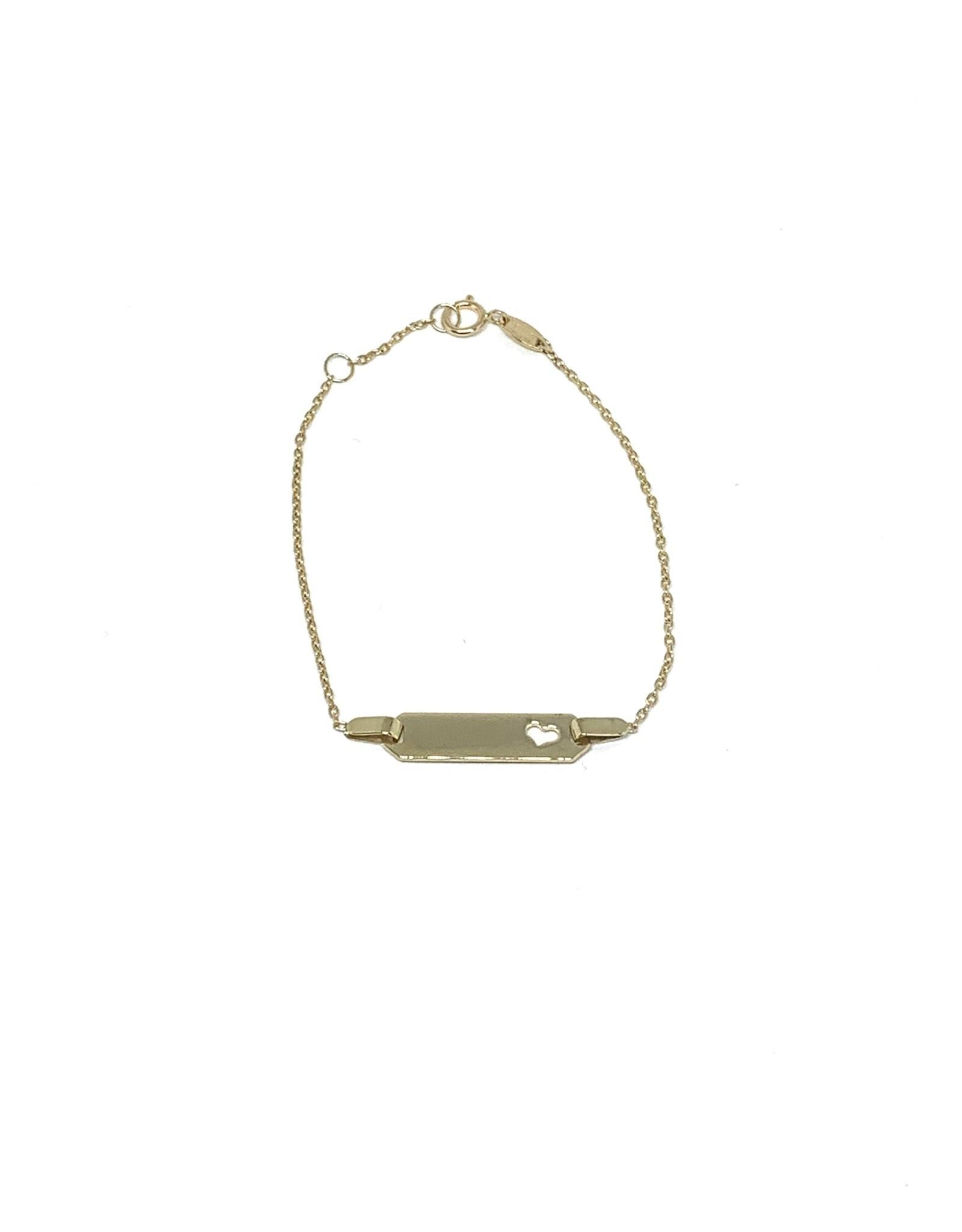 PARÉ Bracelet ID cœur Enfant Or 10K
