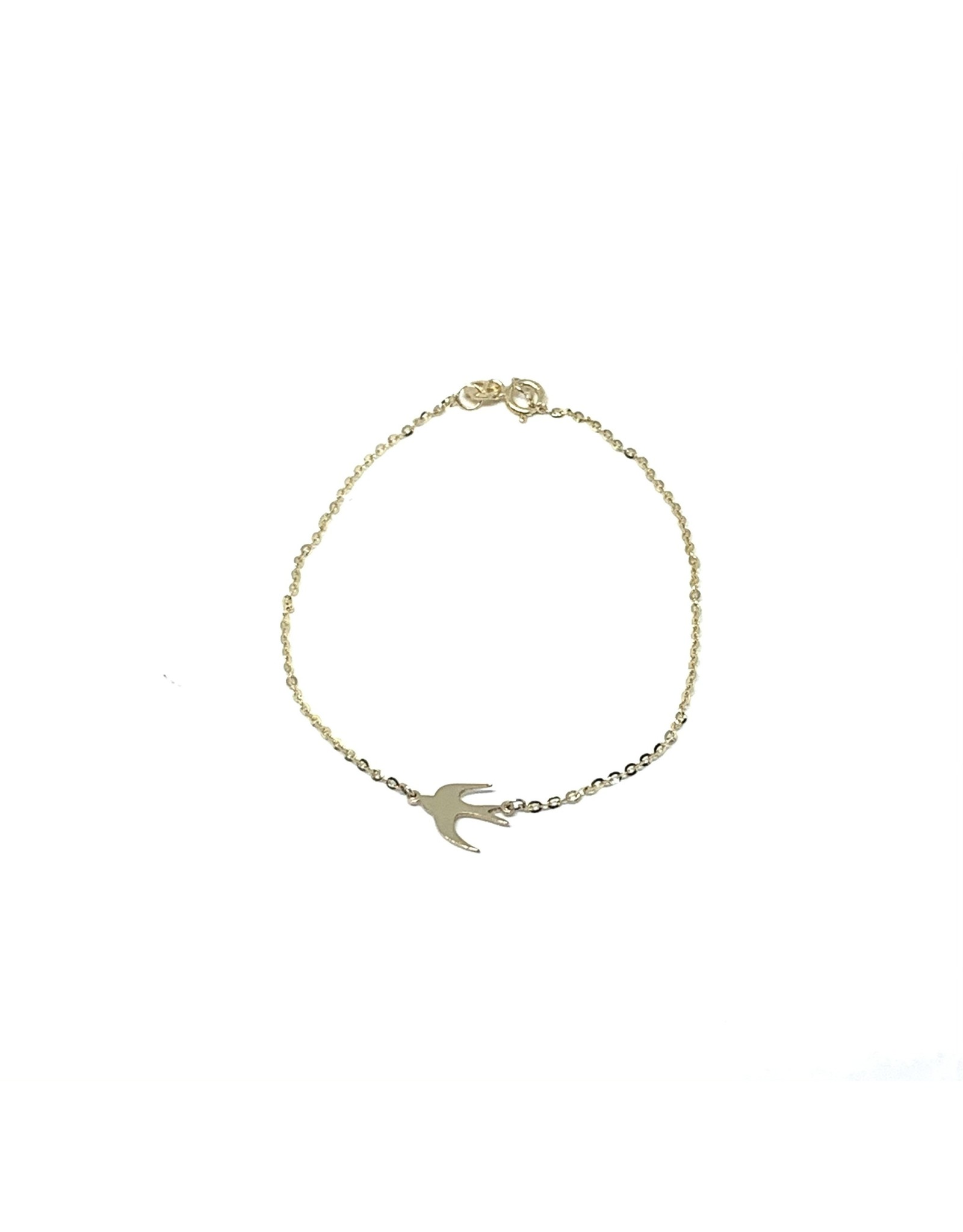 LokÜs Bracelet forçat hirondelle Or 10K