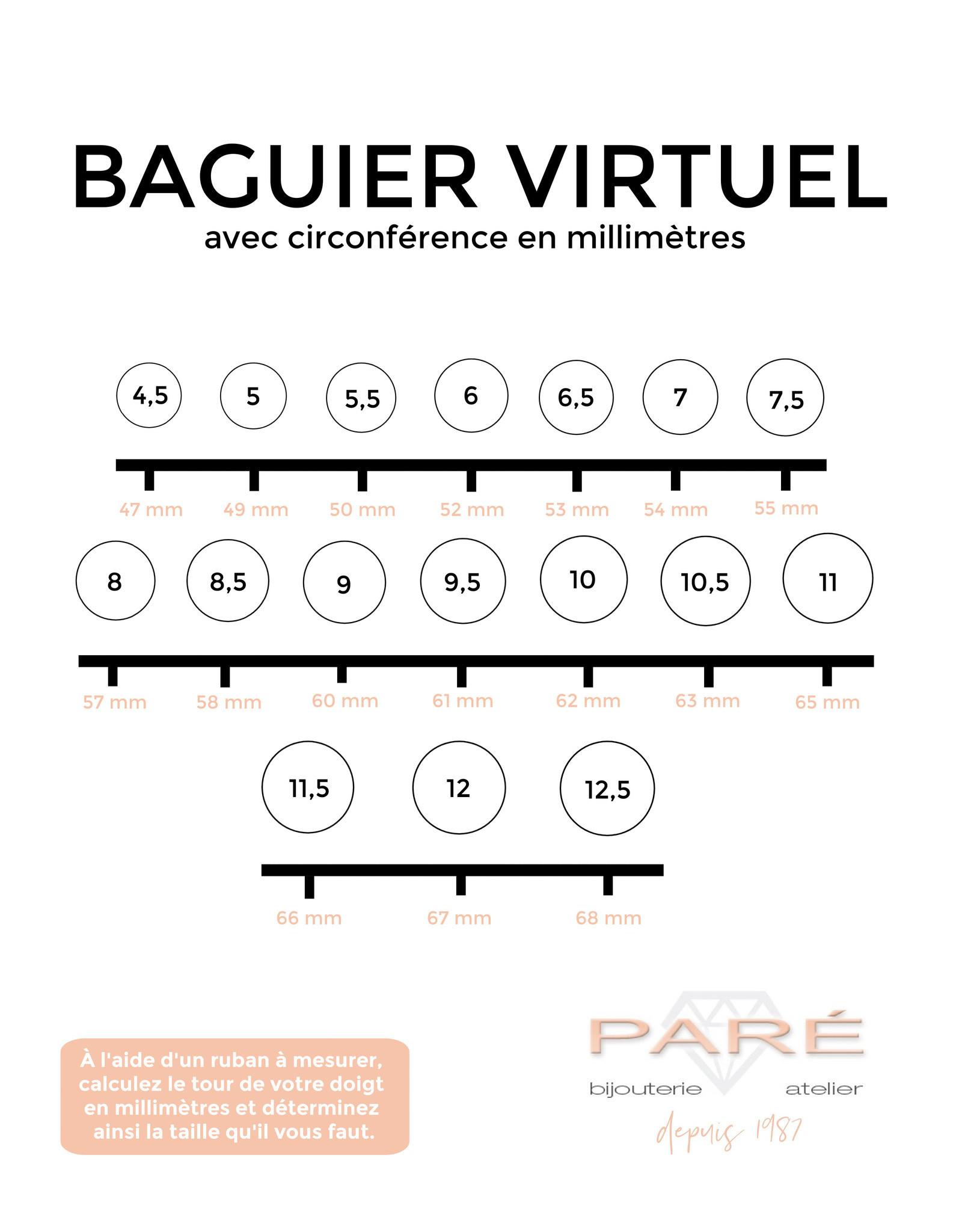 PARÉ Bague croisée Or 10K 2 tons avec Cubique zirconium