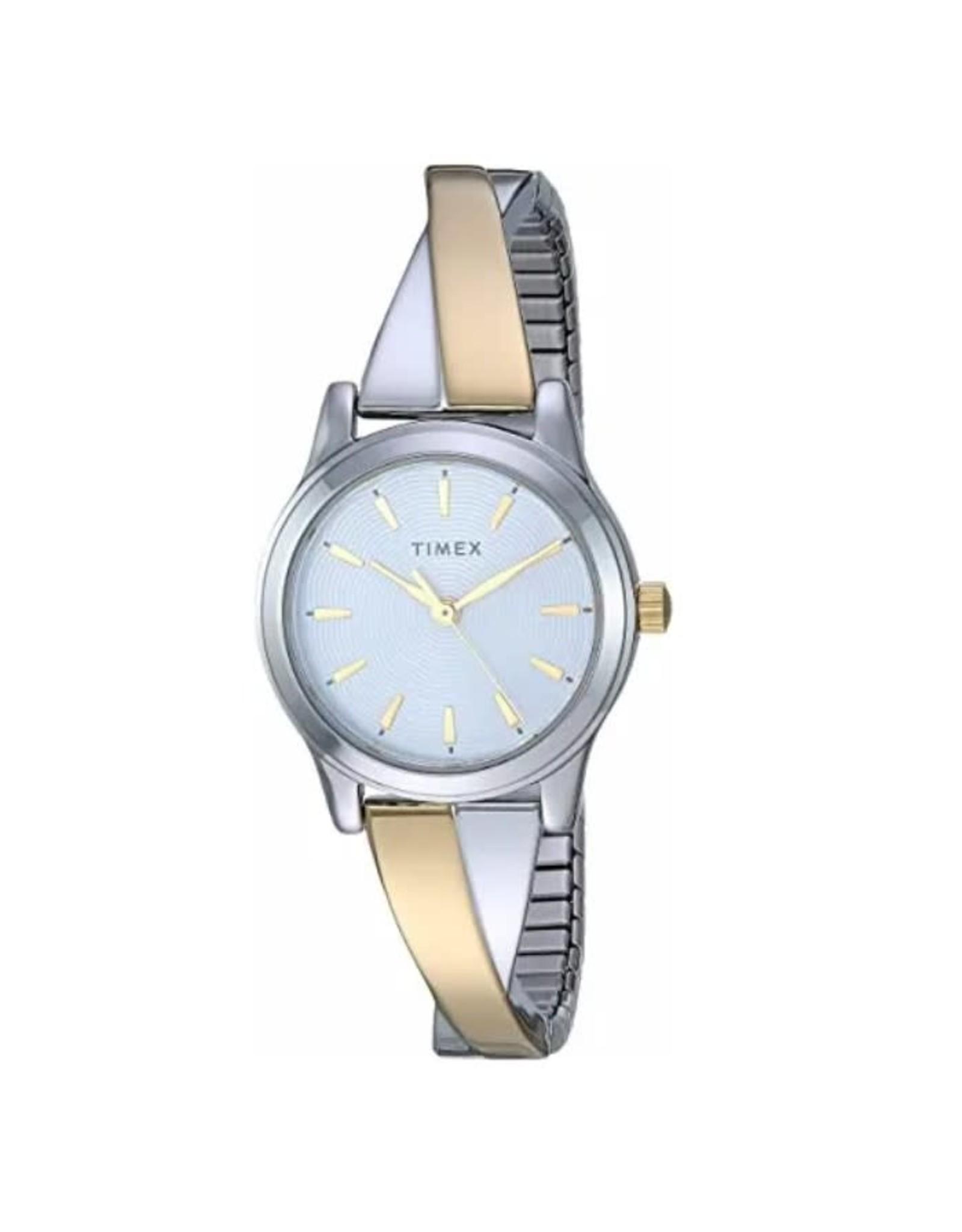 Timex Montre classique Timex Argentée et dorée