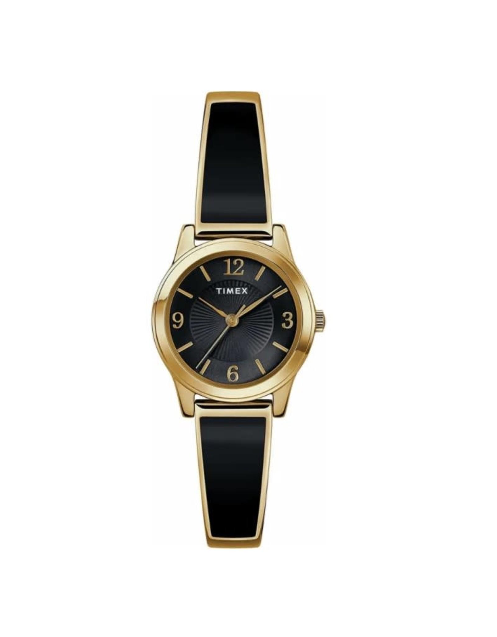 Timex Montre classique Timex noire et dorée