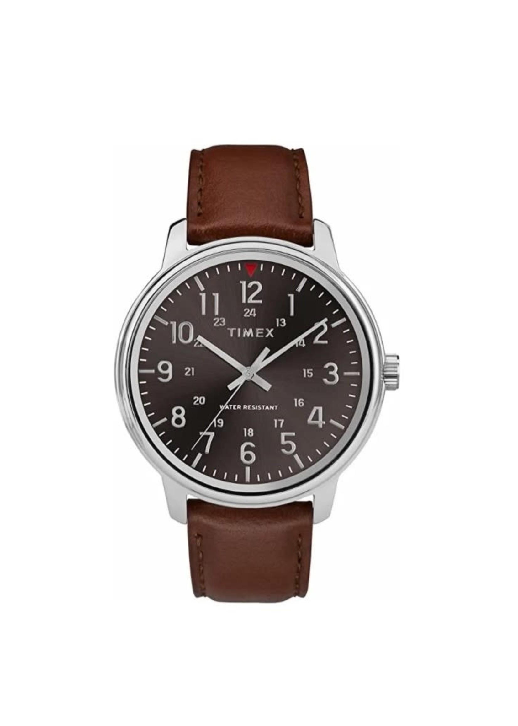 Timex Montre classique Timex avec bracelet brun