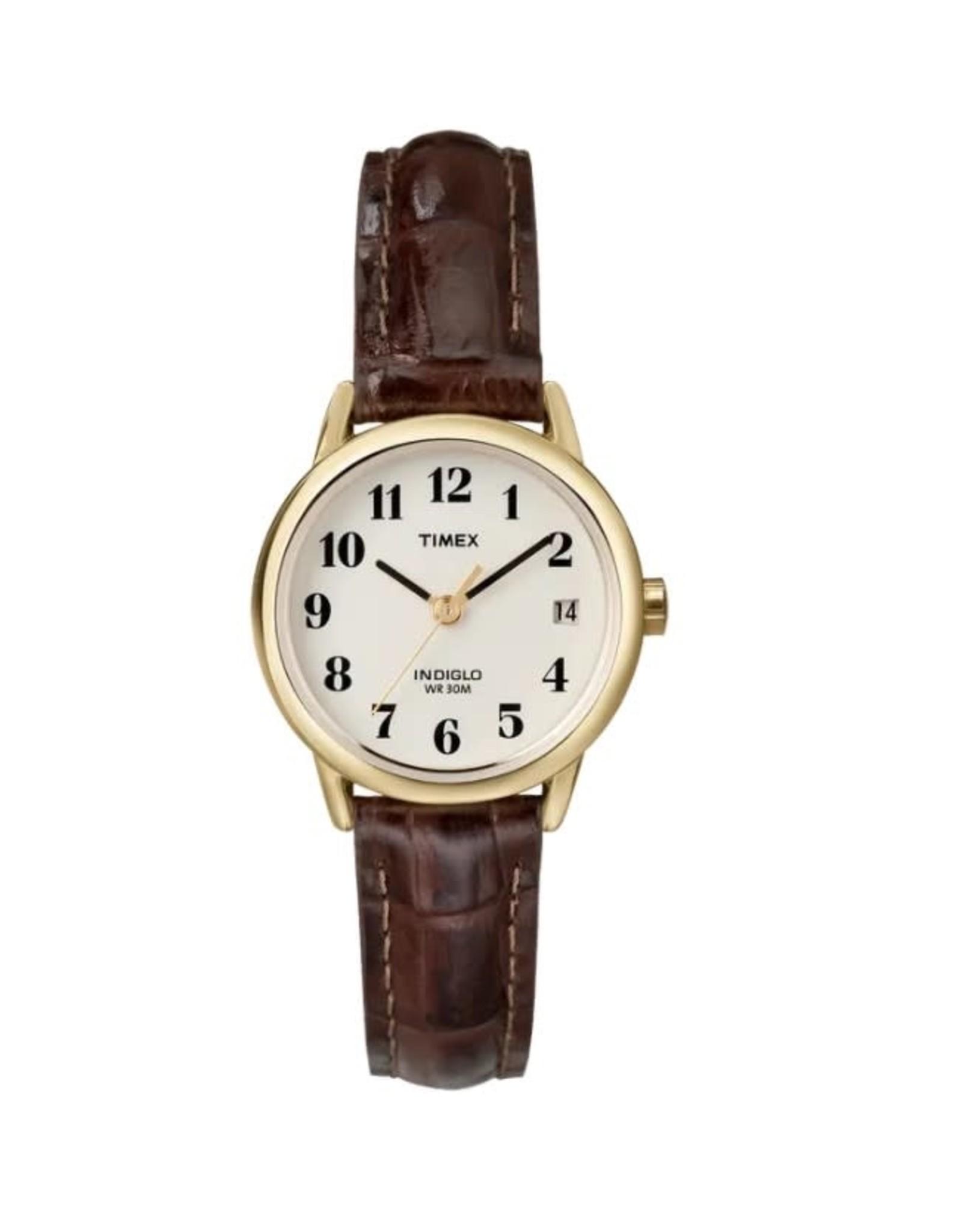 Timex Montre dorée Timex avec bracelet brun