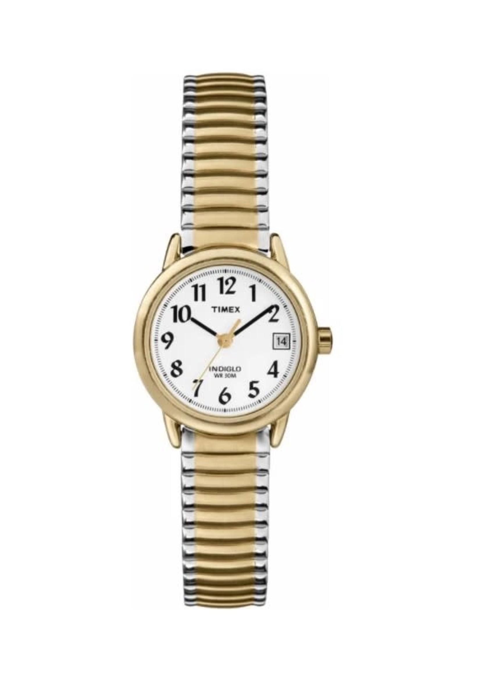 Timex Montre Timex argentée et dorée