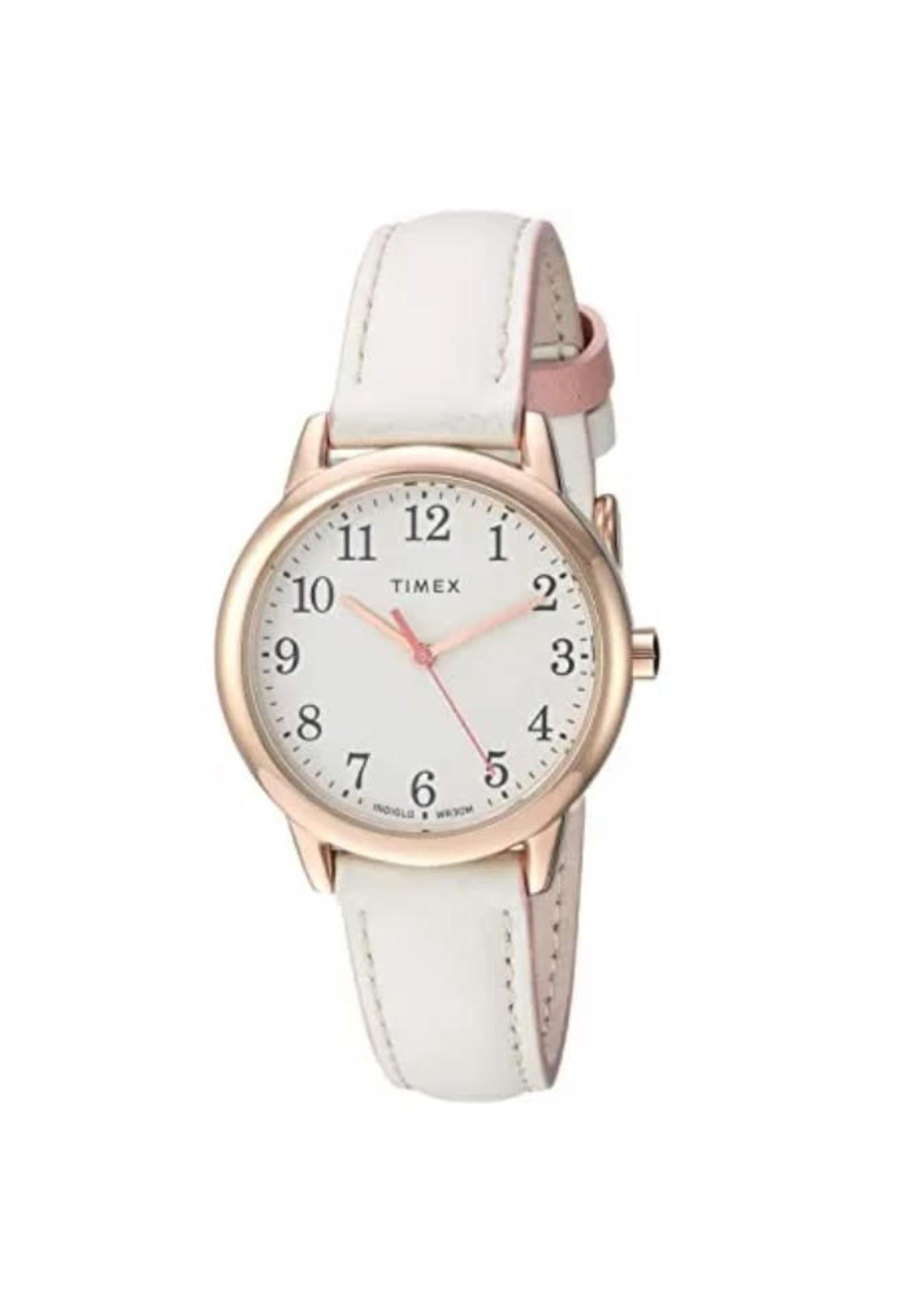 Montre Timex blanche et rose