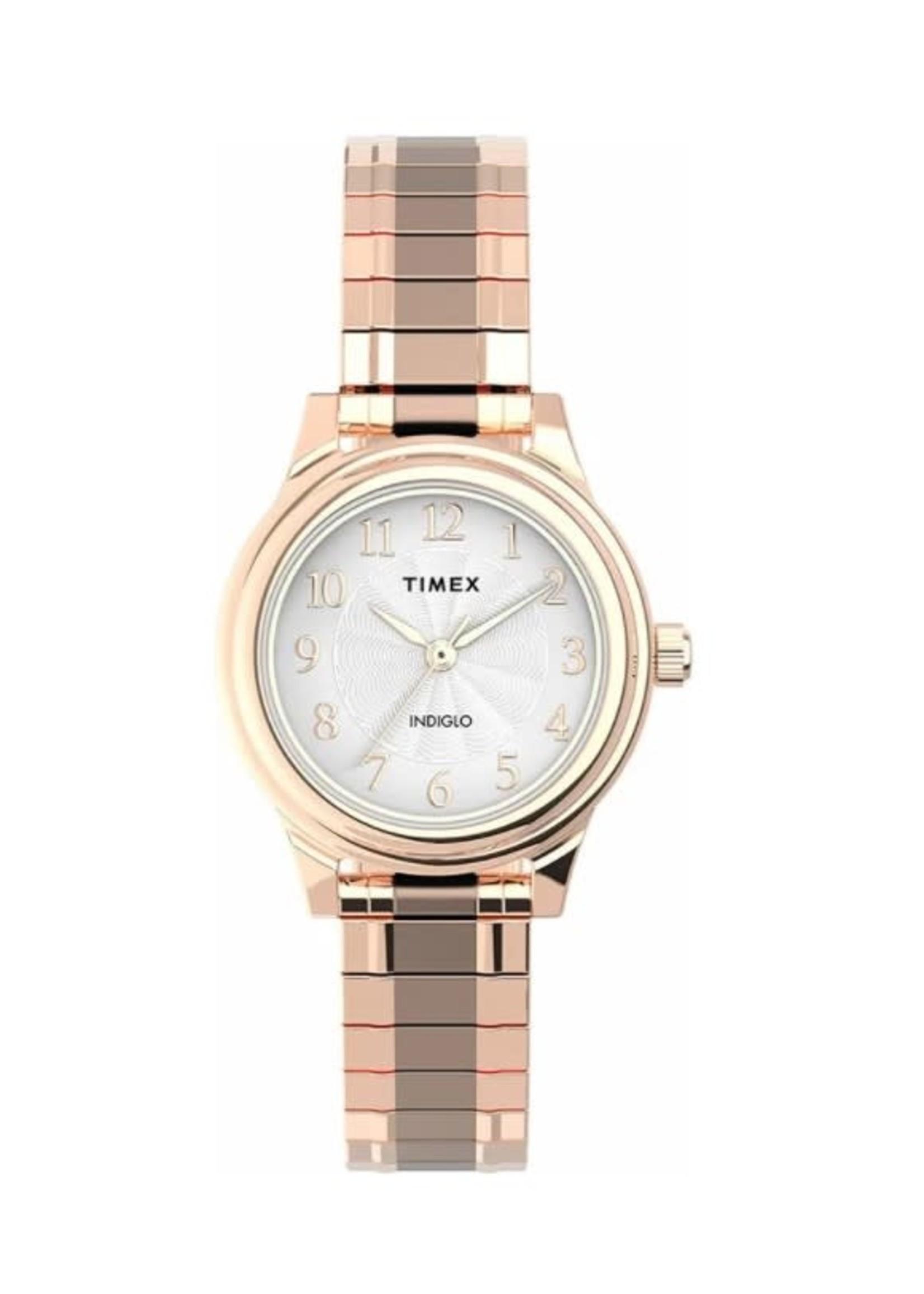 Timex Montre Timex dorée rose