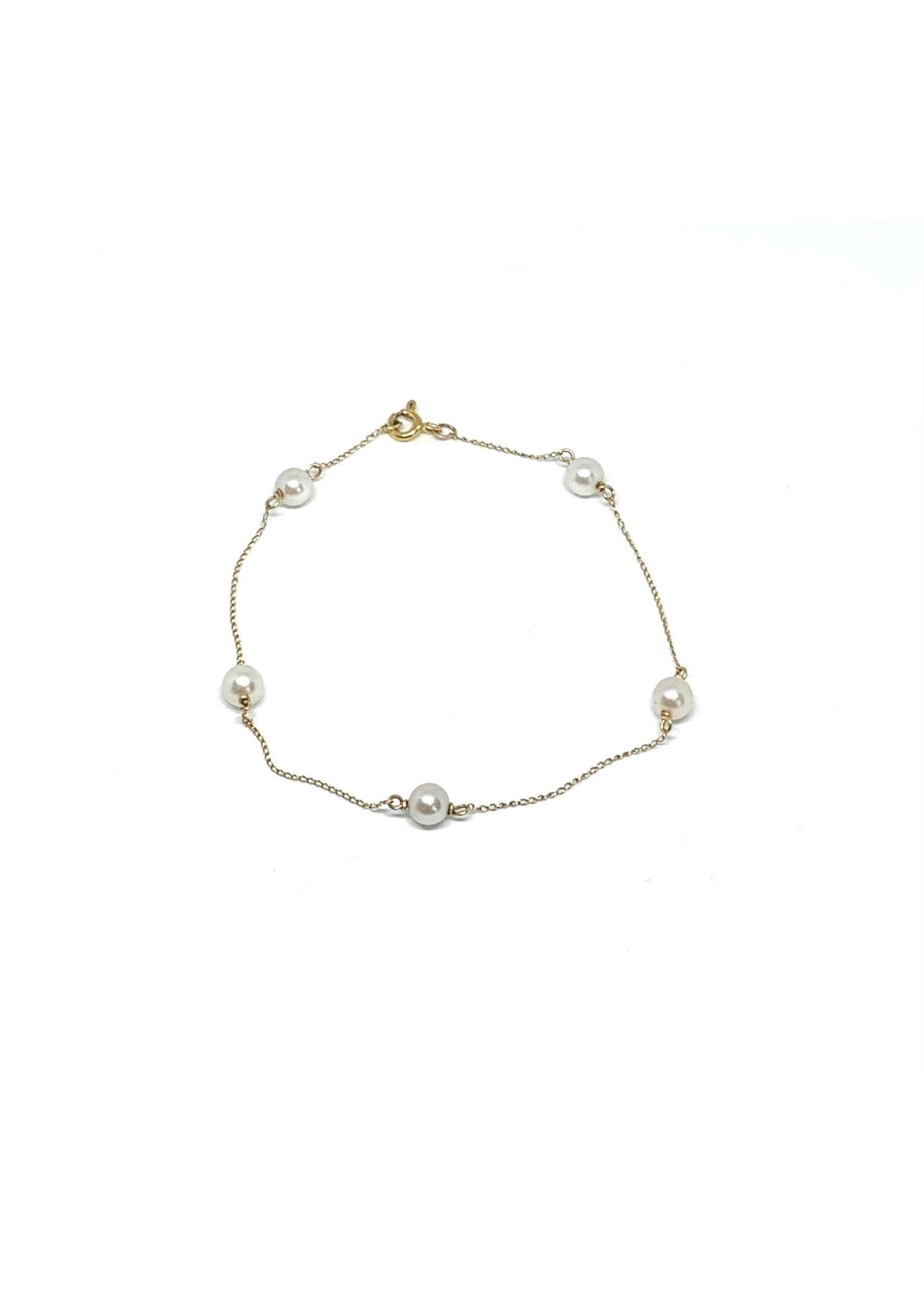 PARÉ Bracelet en Or 10K avec perles d'eau douce