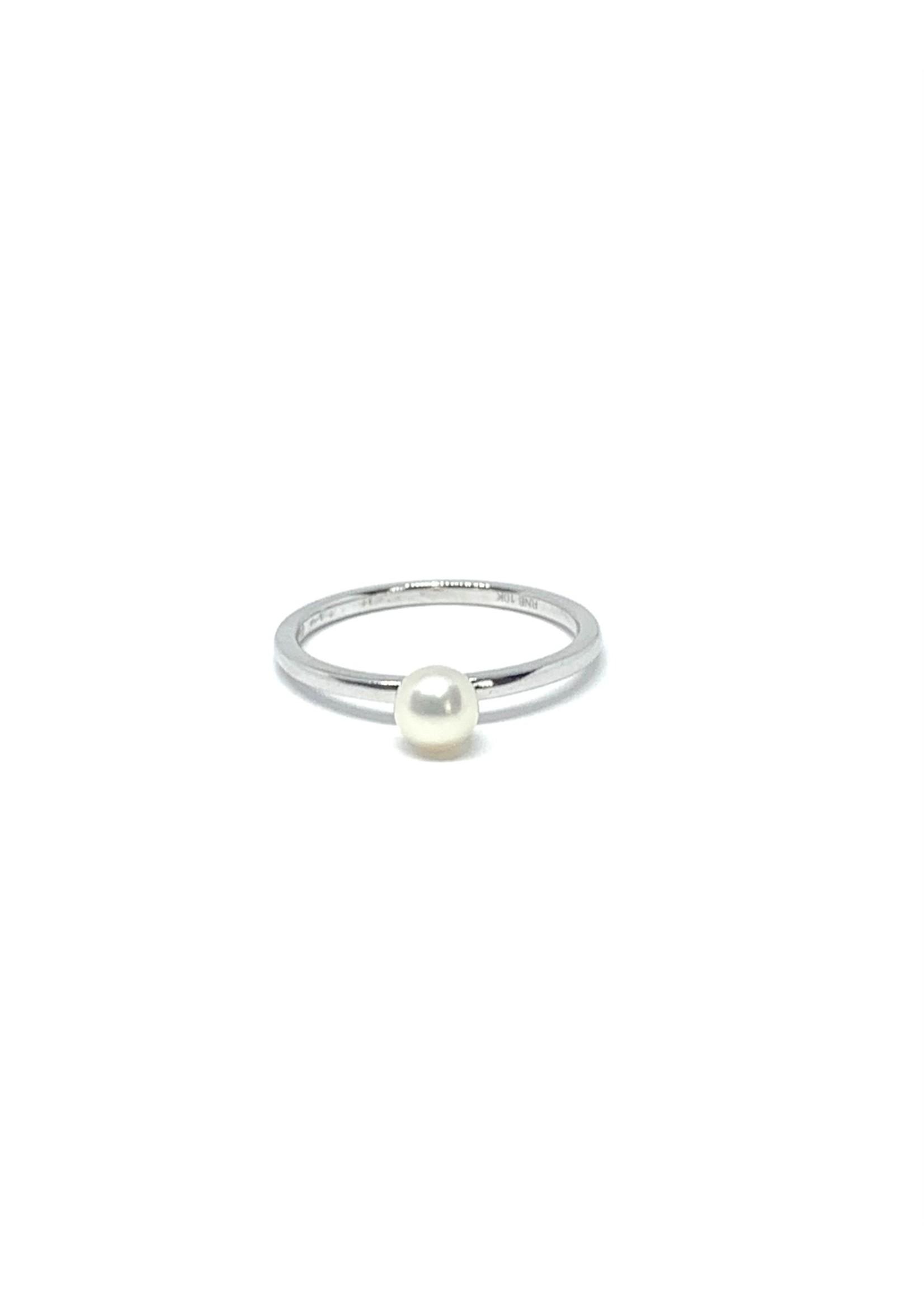 LokÜs Bague Or blanc 10K avec perle d'eau douce