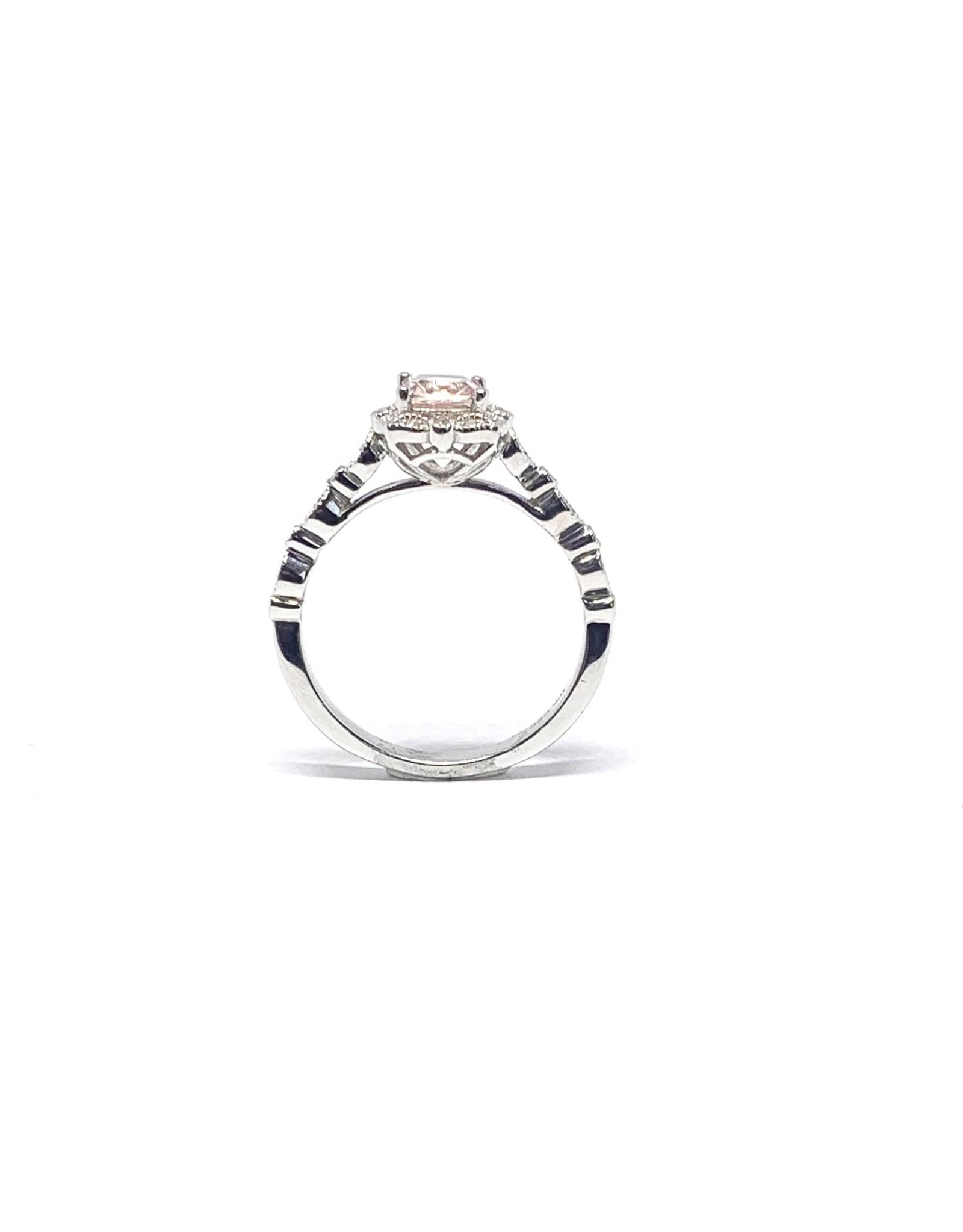 Bague «Romantique» en Or blanc avec diamants