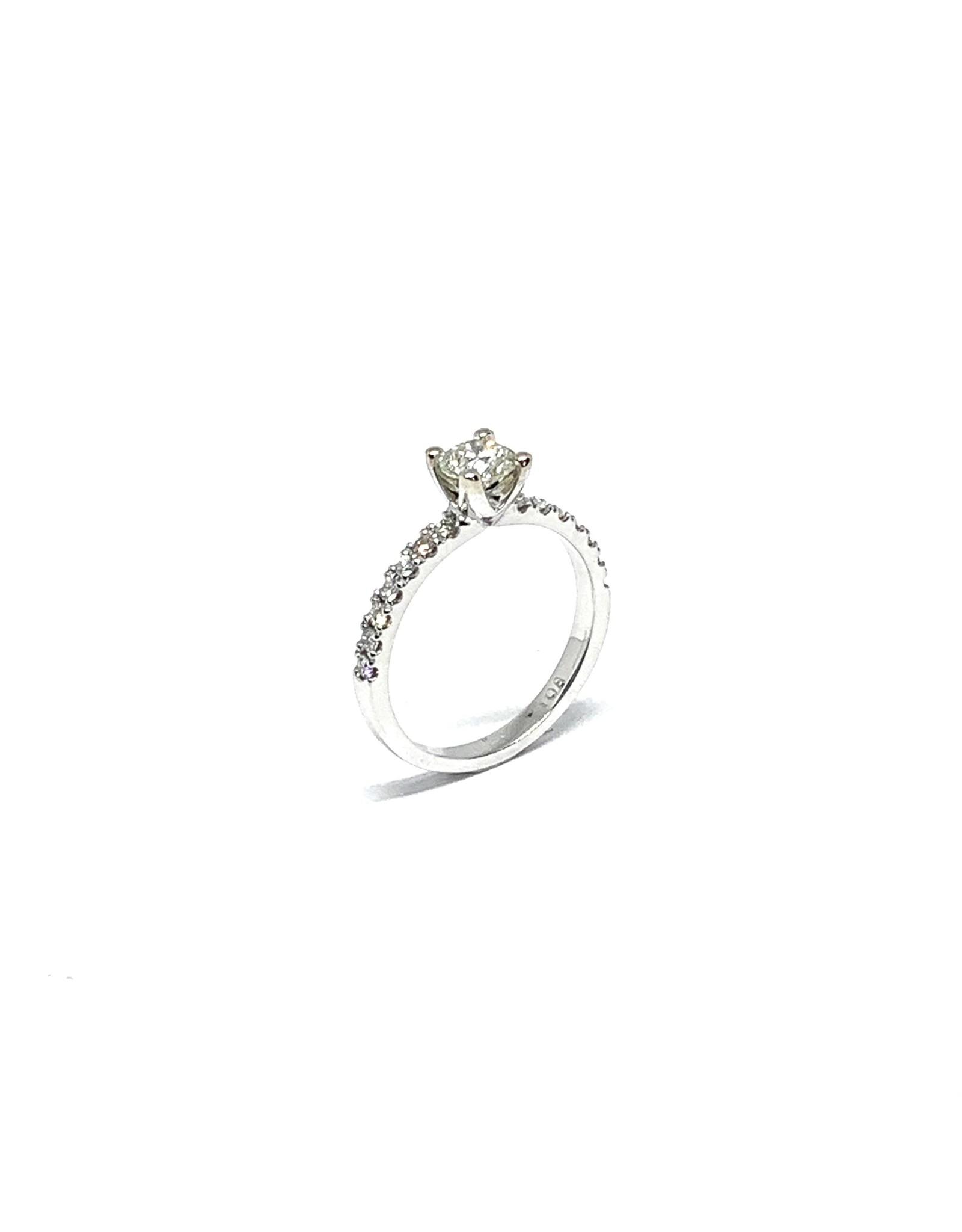PARÉ Bague «De rêve» Or blanc 14K avec Diamants