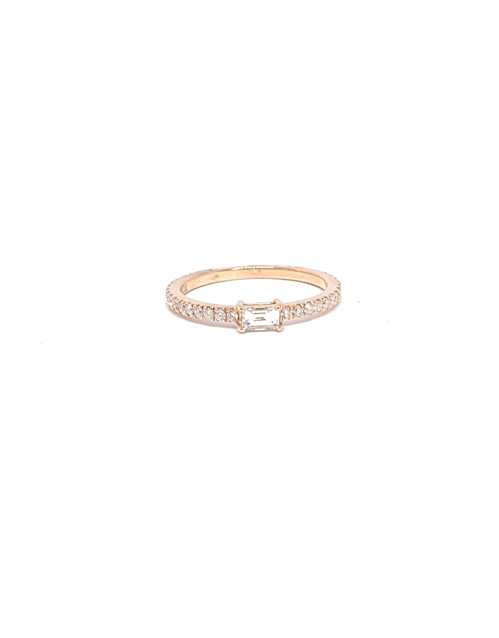 PARÉ Bague solitaire Or rose 14K avec diamants