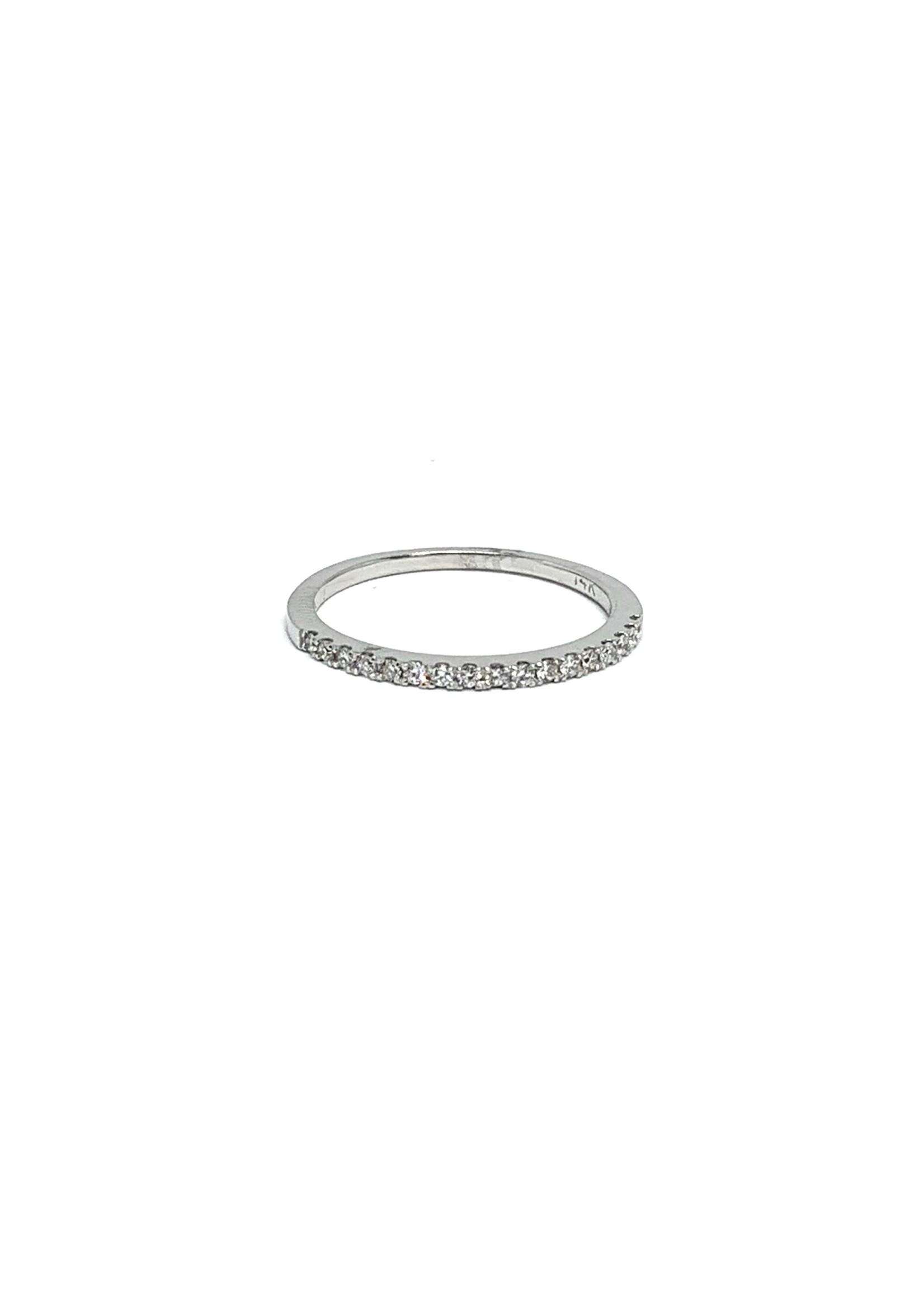 PARÉ Jonc semi-éternité Or blanc 14K avec Diamants