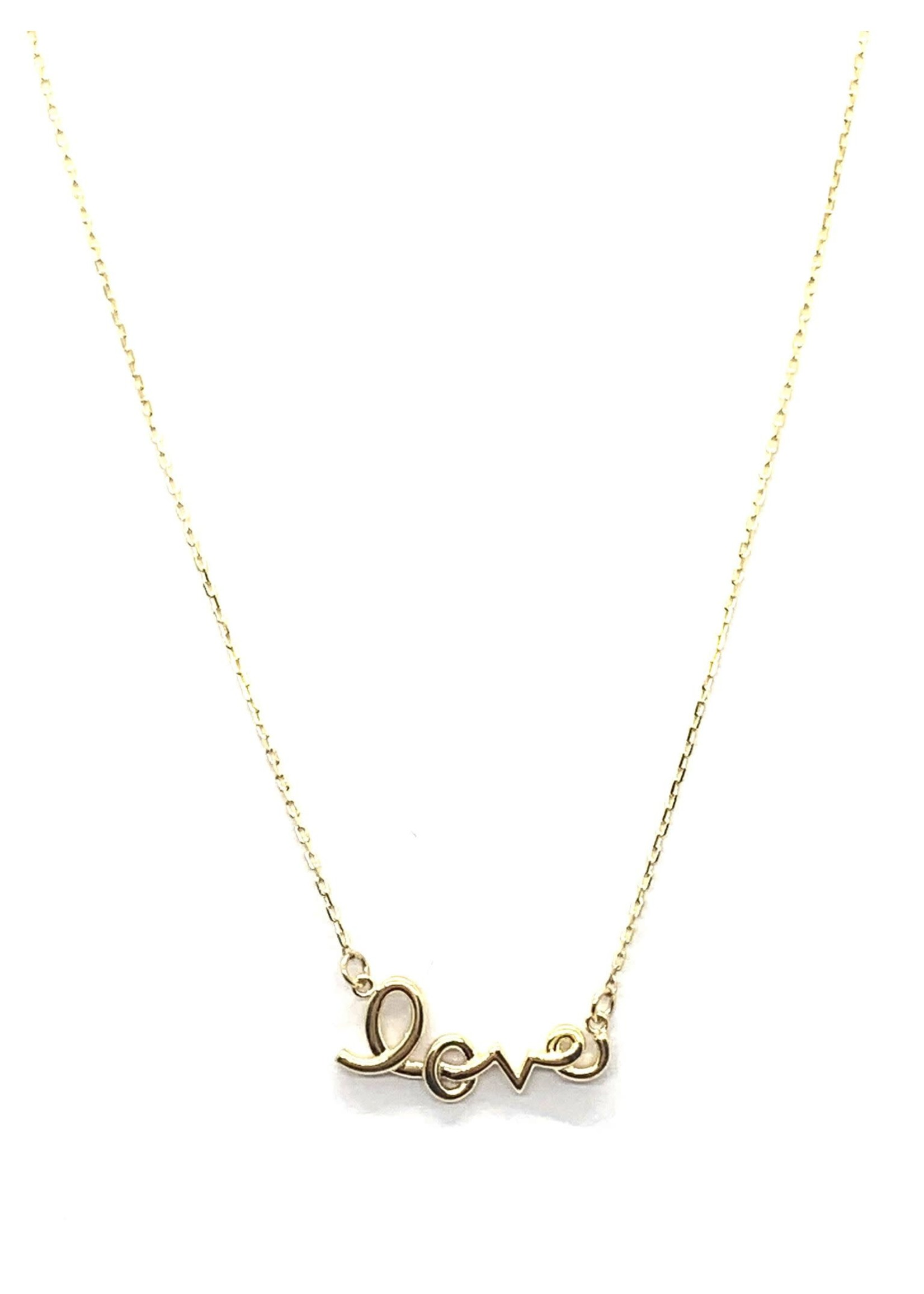 PARÉ Collier « Love » Chaîne Mini Forçat Or 10k