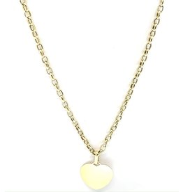 PARÉ Collier Tiffany Hollow Pendentif Cœur Or 10k
