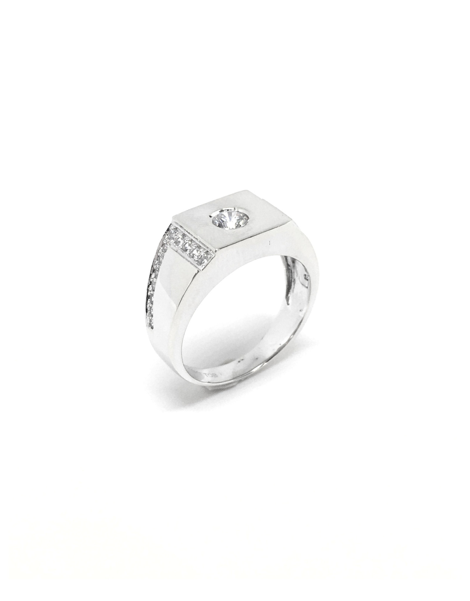 Bague Homme Or blanc 10K