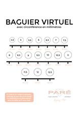 PARÉ Bague Pointe Or blanc 10k
