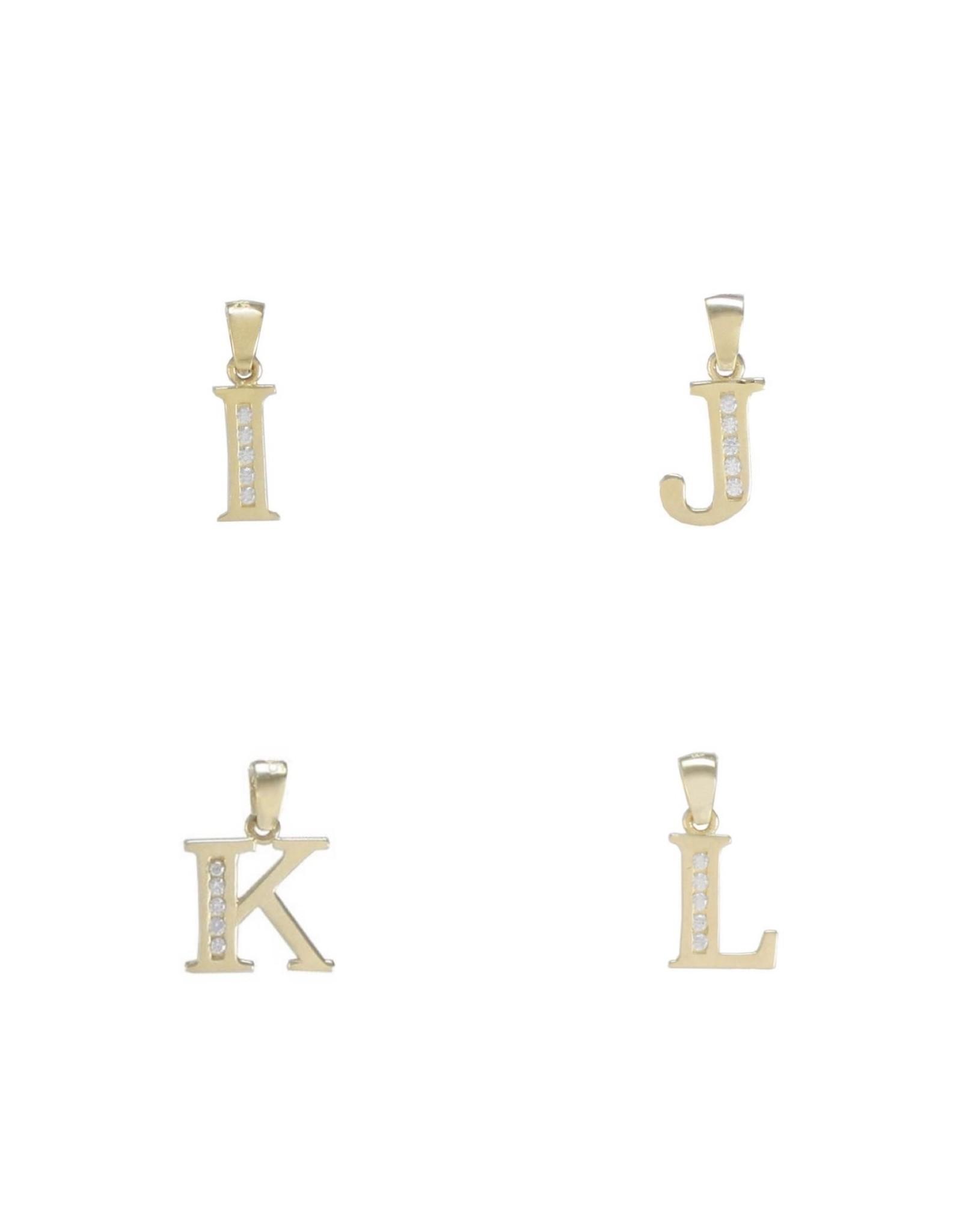 Breloque lettre A à Z Or 14K