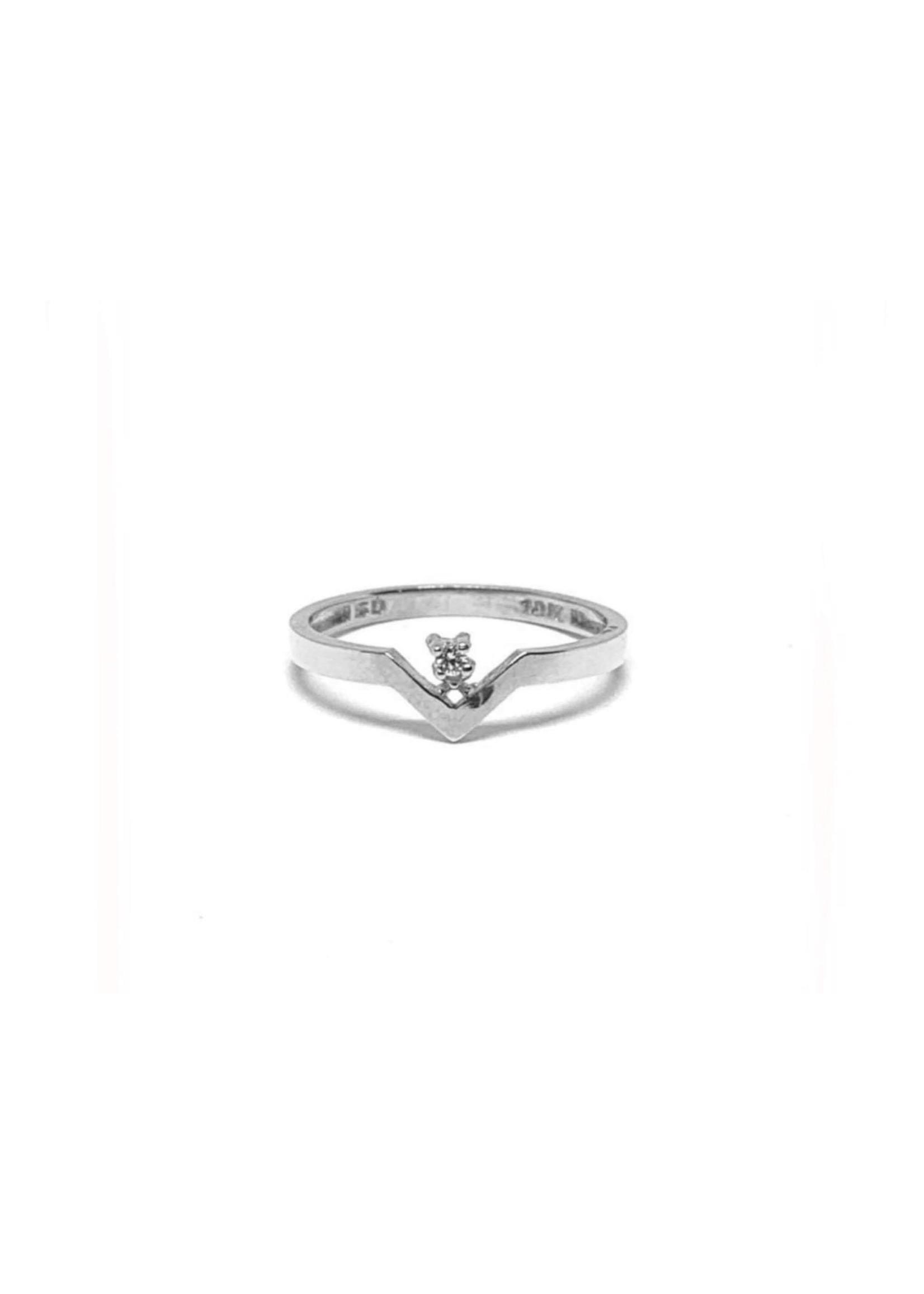 LokÜs Bague « Chevron » Or 10K avec diamant canadien
