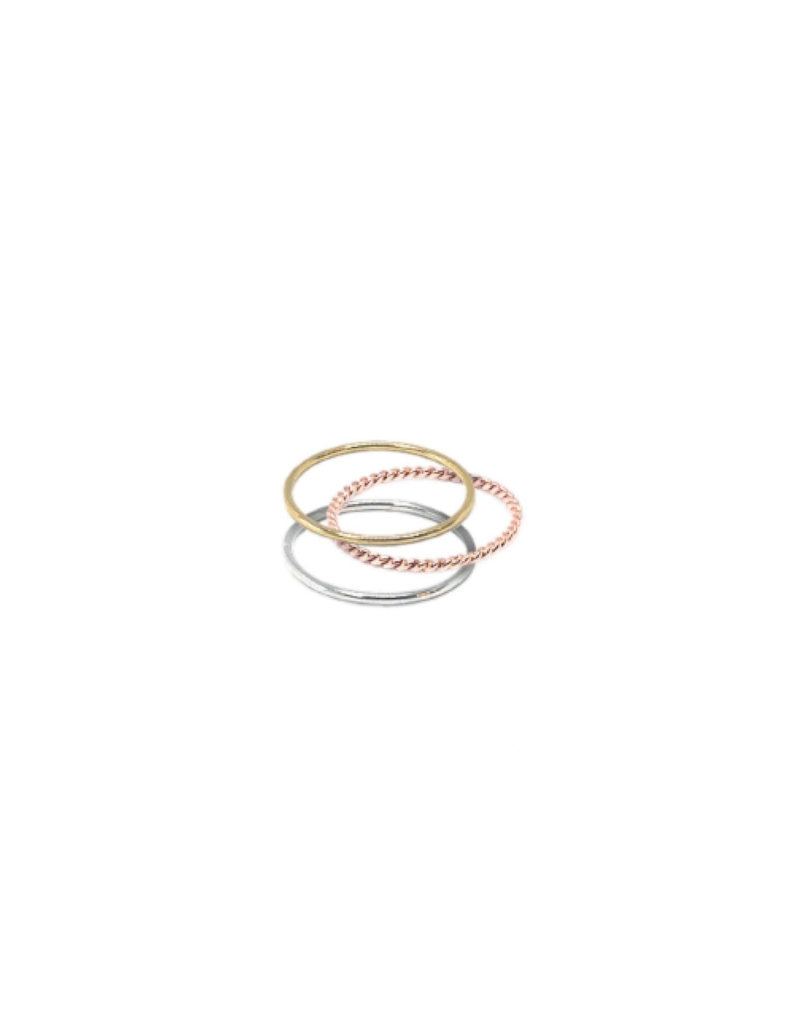 """LokÜs Jonc fin torsadé Or 10K """"Stackable ring"""""""