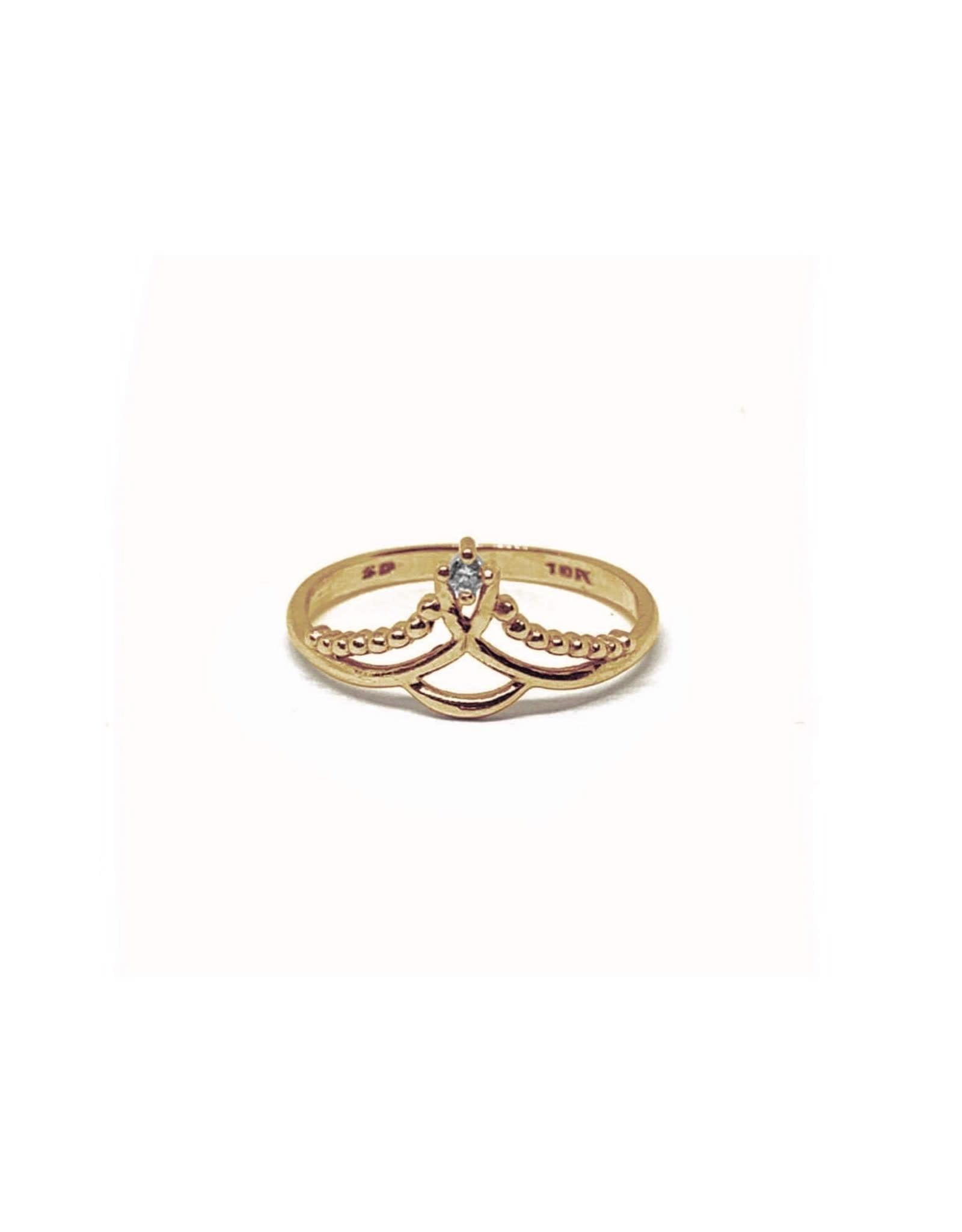 LokÜs Bague « Diadème » en Or avec diamant Canadien