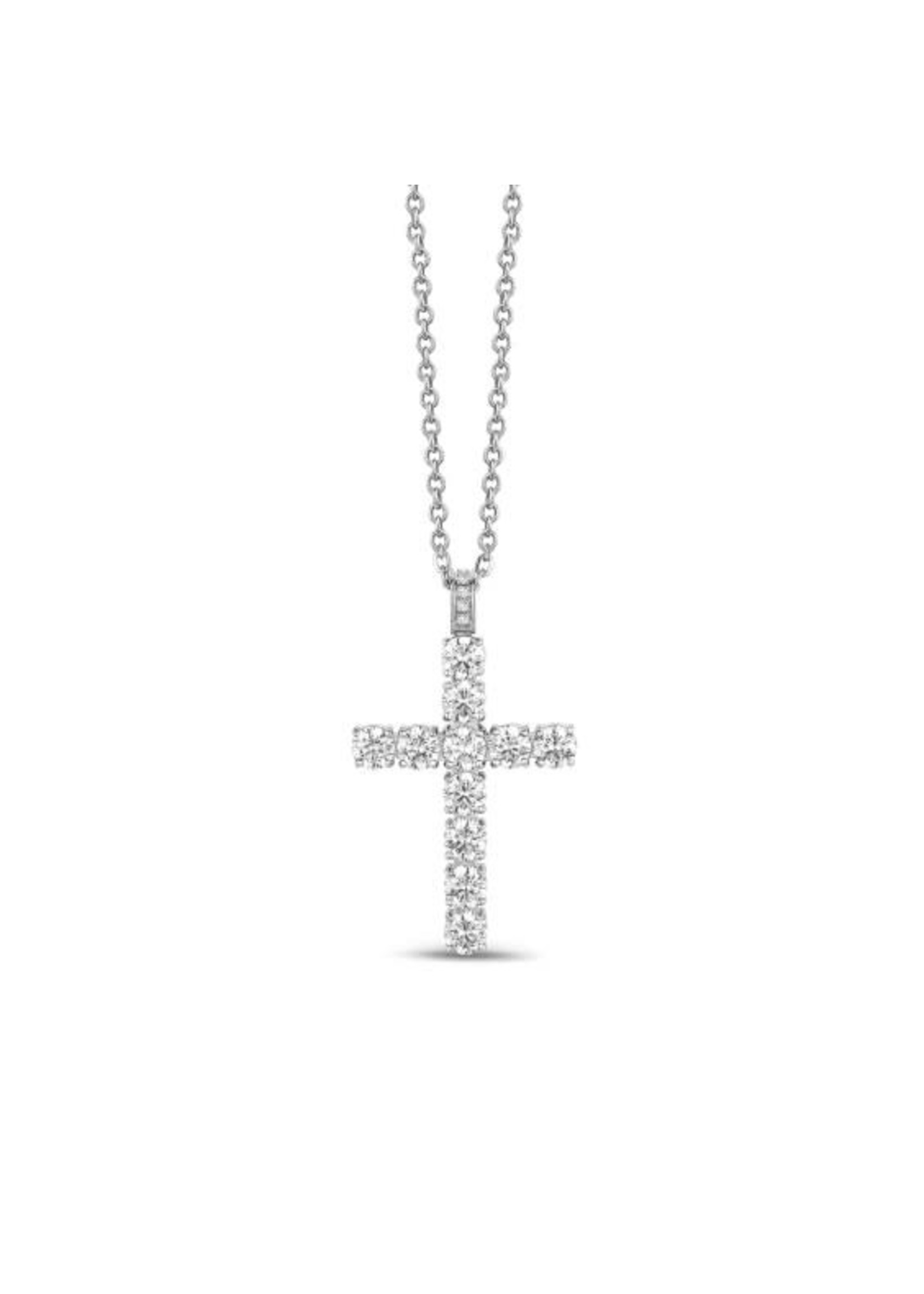 PARÉ Chaîne et pendentif Croix Steel avec CZ