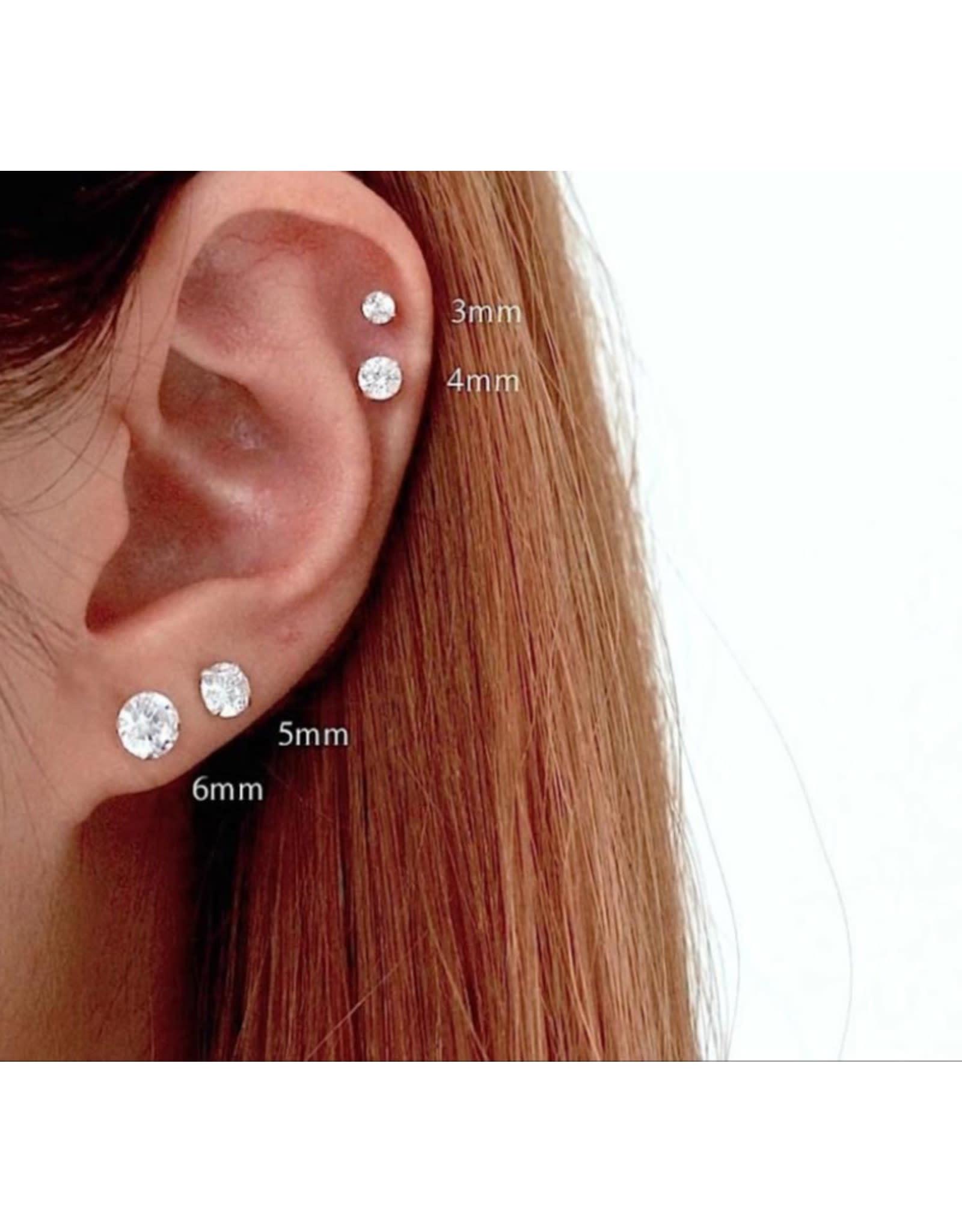 PARÉ Boucles d'oreilles Stud Or blanc 10K