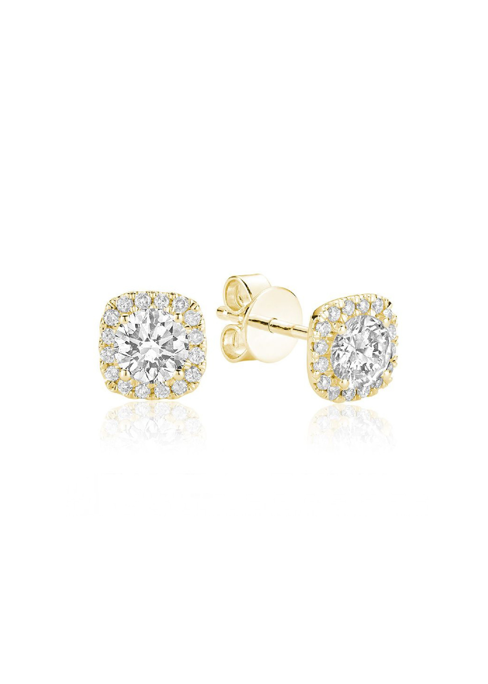 PARÉ Boucles d'oreilles Stud Or 14K avec Diamants