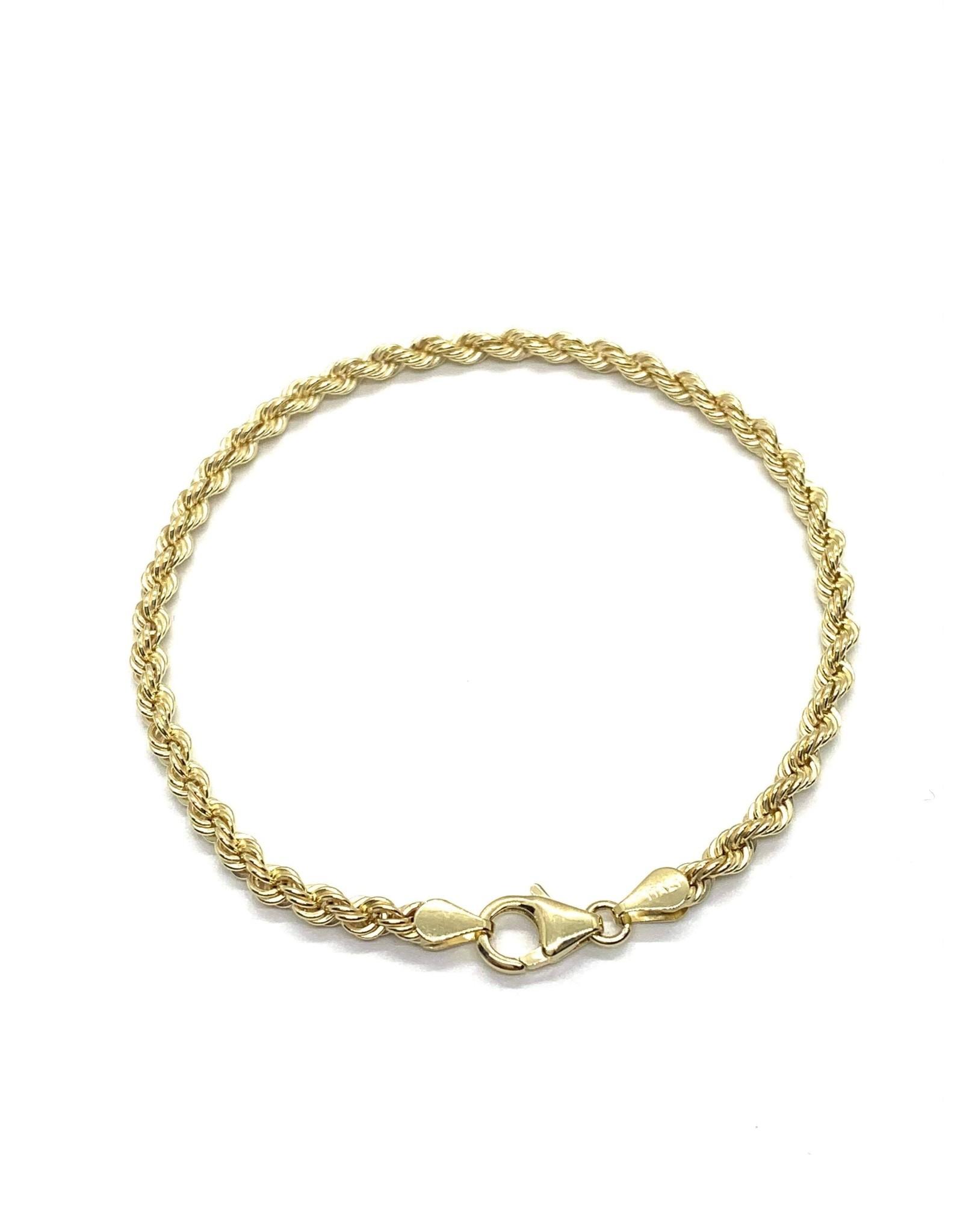 Bracelet Torsadé Or 10k