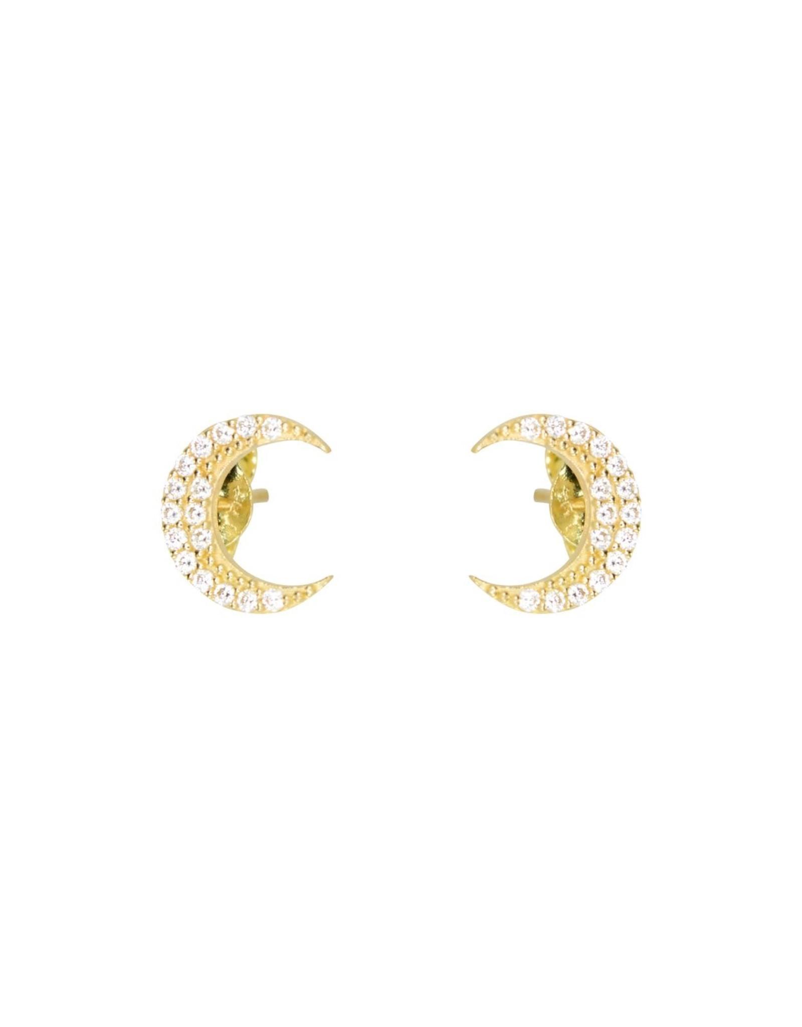 PARÉ Boucles d'oreilles Stud demi-lune Or 10K